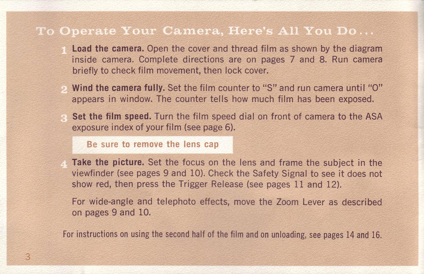 Argus Electric Eye Zoom Eight Instruction Manual Ann Arbor