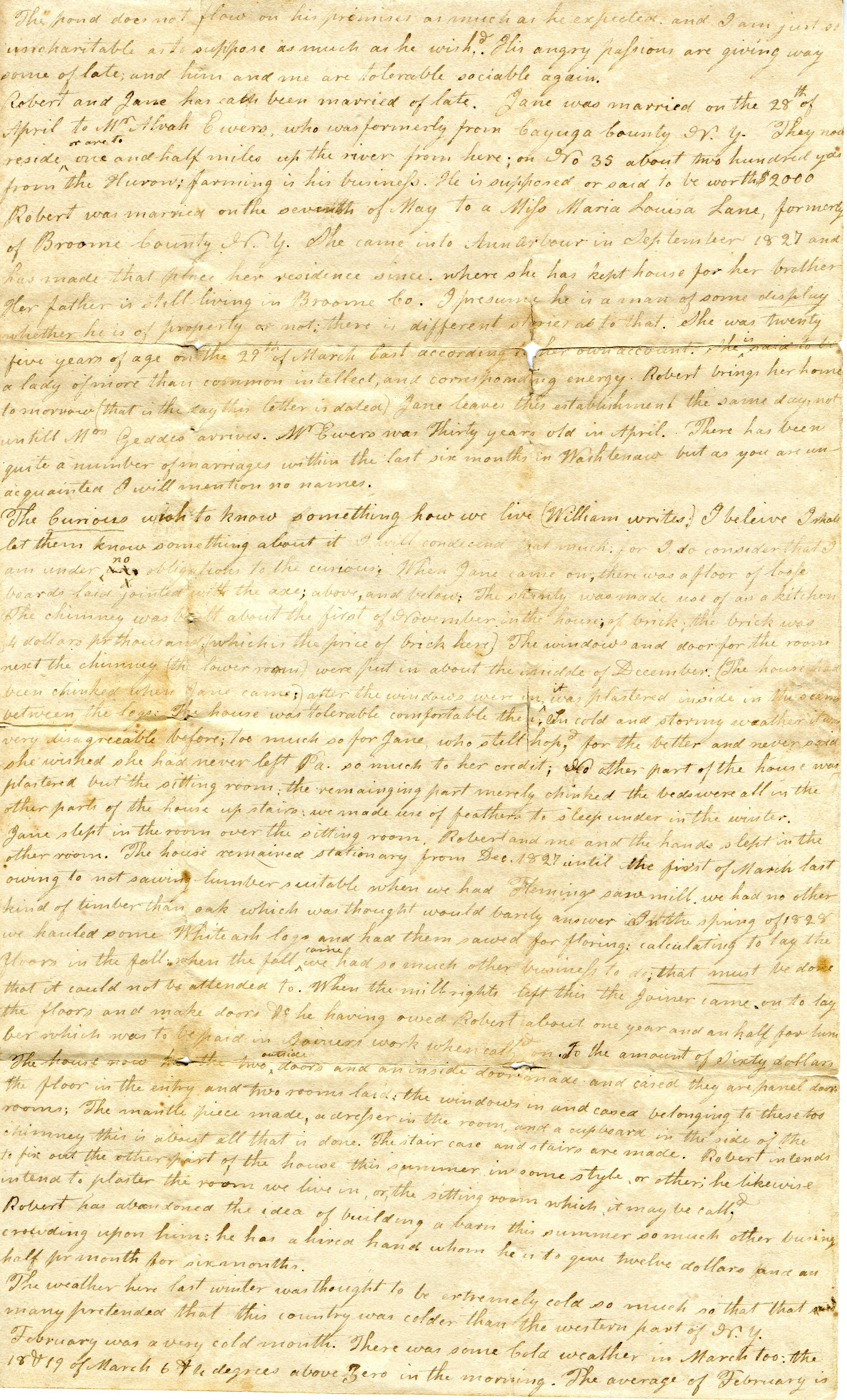 Letter From John Geddes to Robert Geddes, May 11, 1829 image
