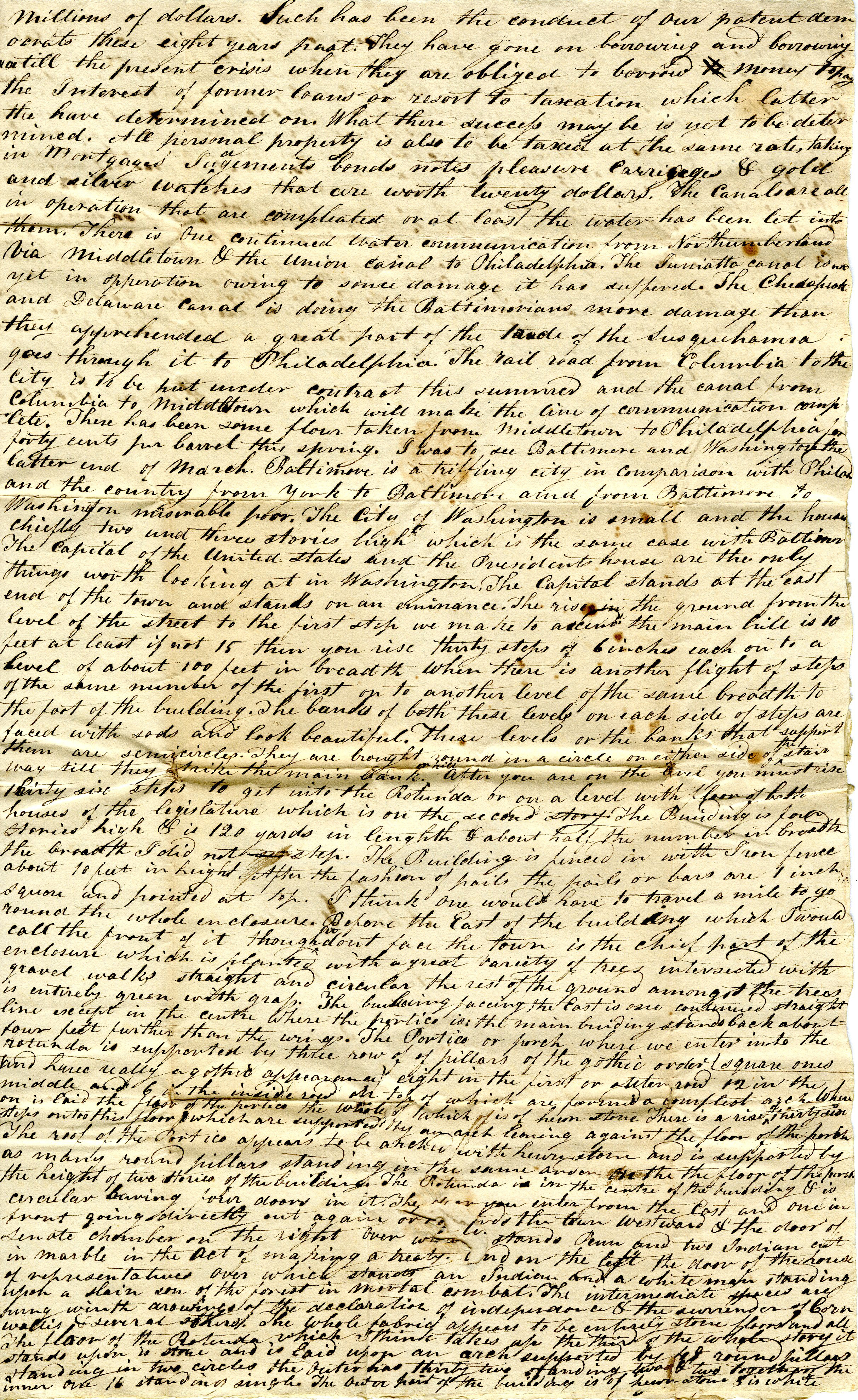 Letter From William Geddes to John Geddes, April 14, 1831 image