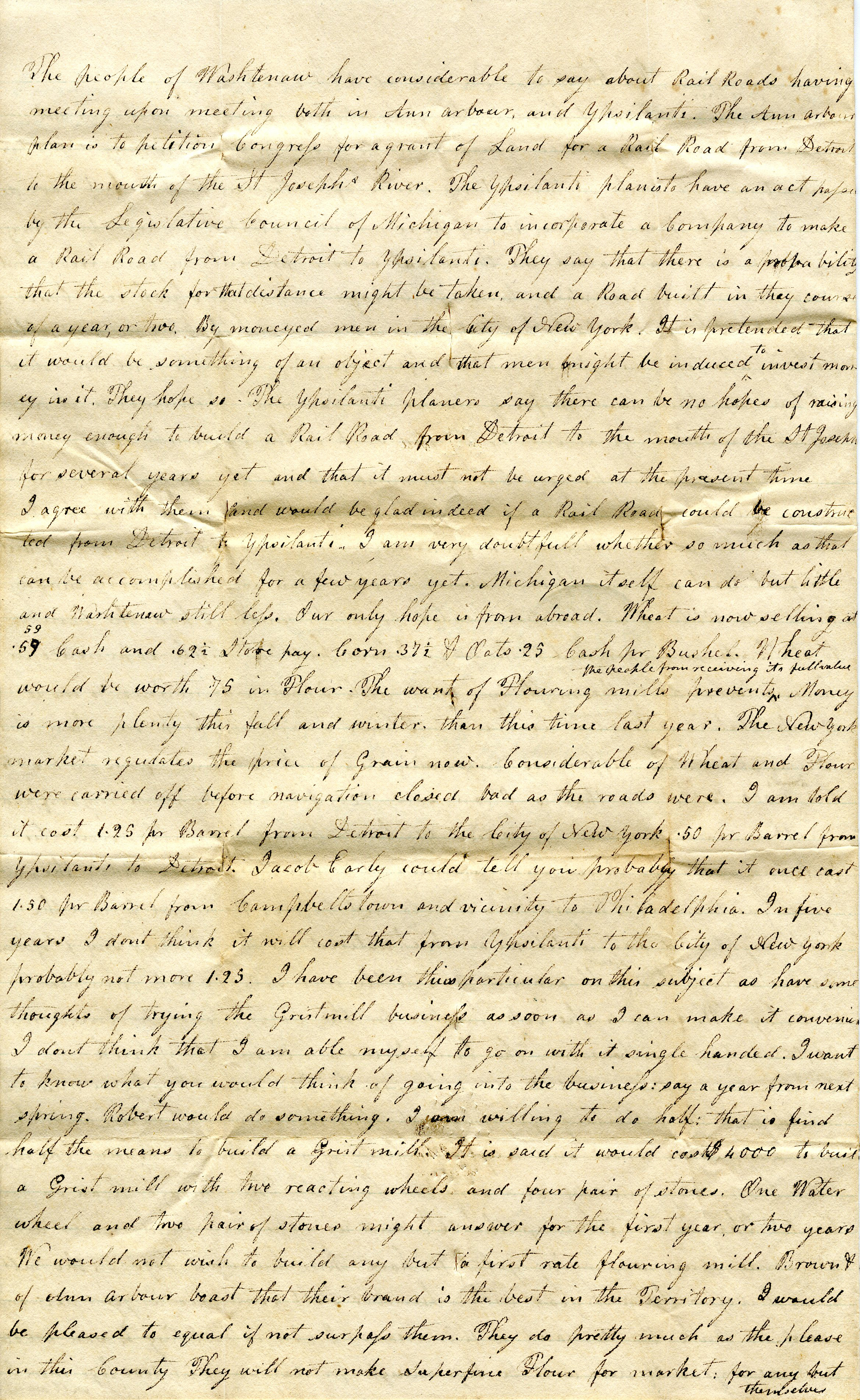 Letter From John Geddes to William Geddes, December 28, 1833 image