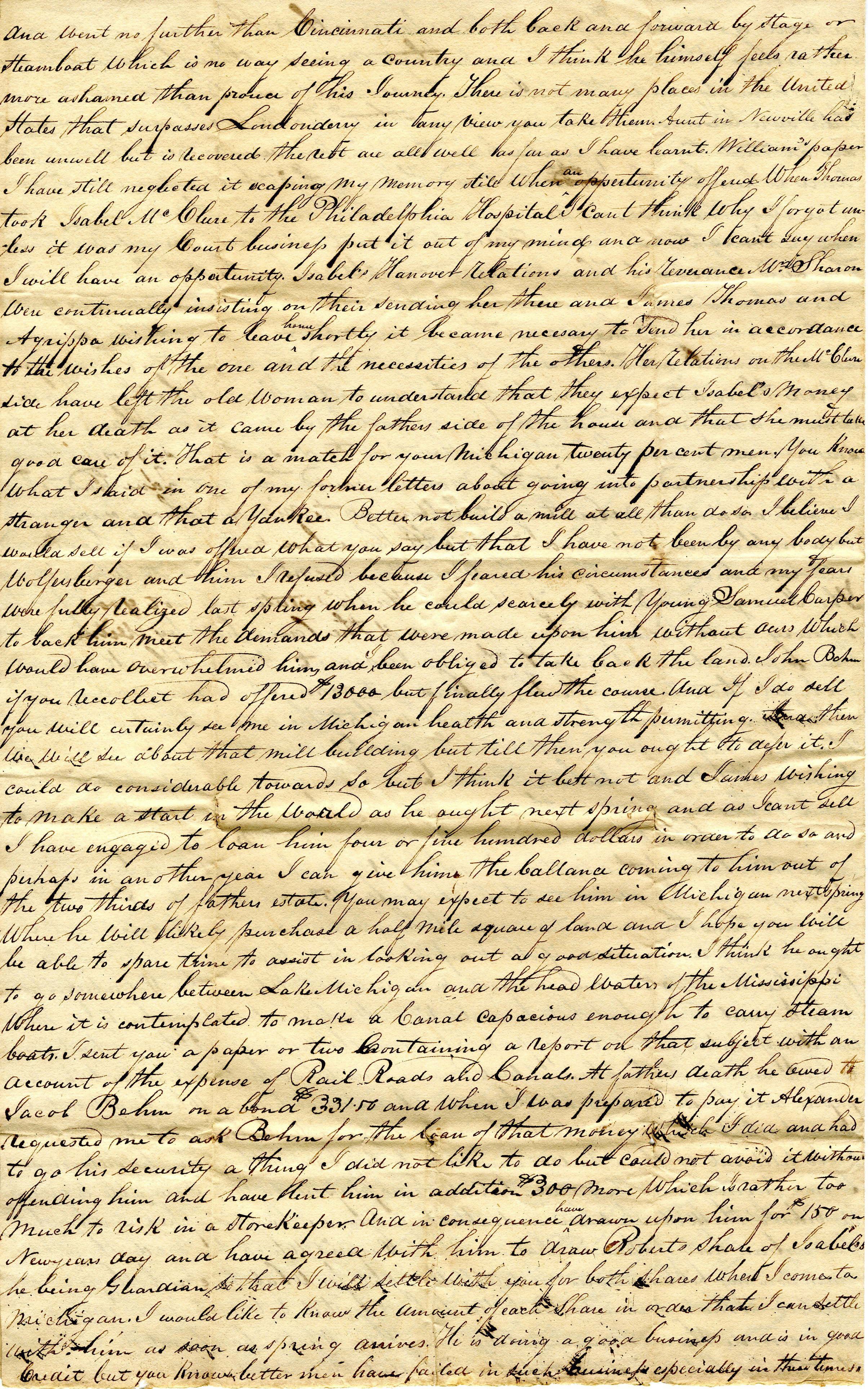 Letter From William  Geddes to John Geddes, January 3, 1835 image
