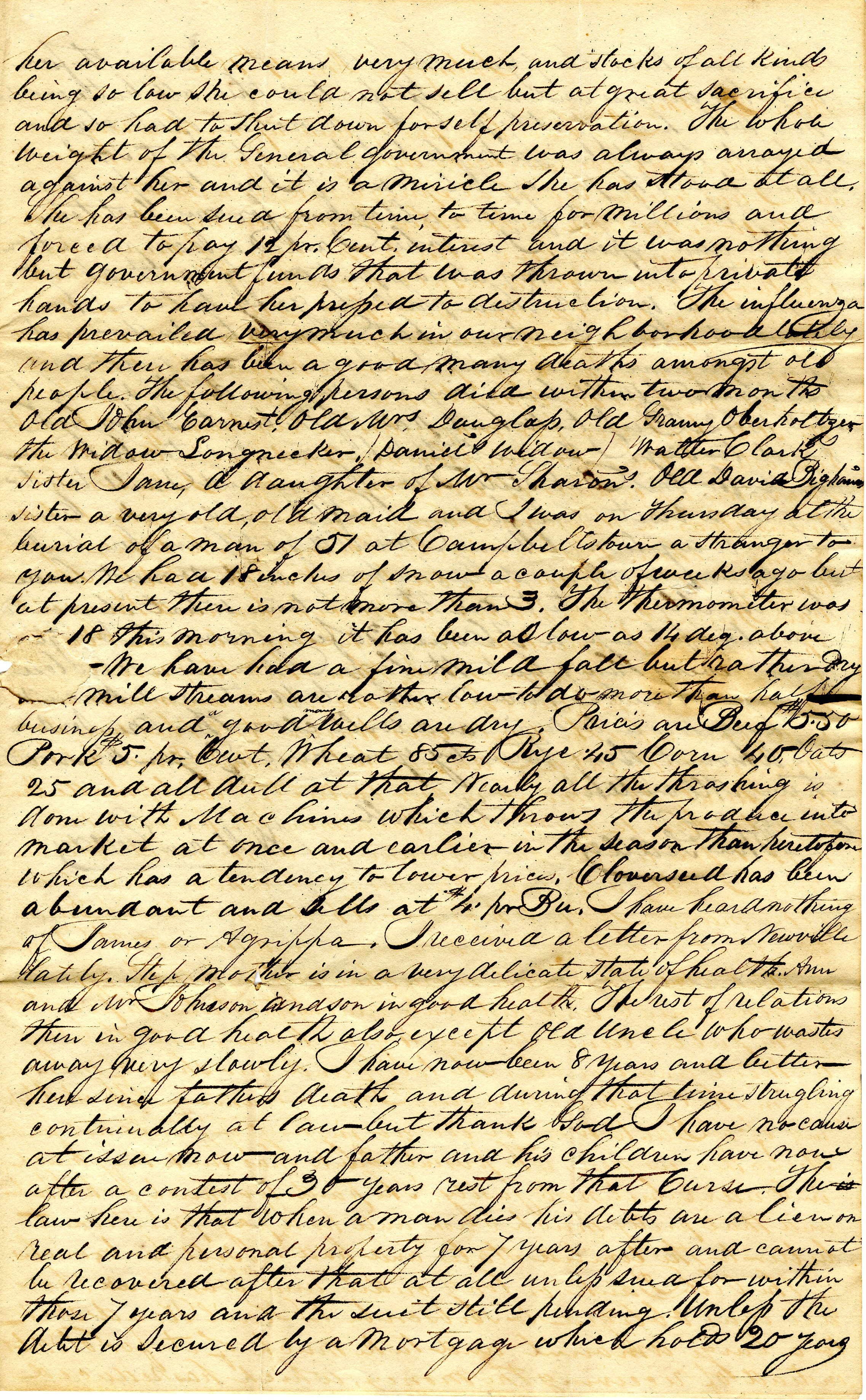 Letter From William Geddes to John Geddes, December 19, 1840 image