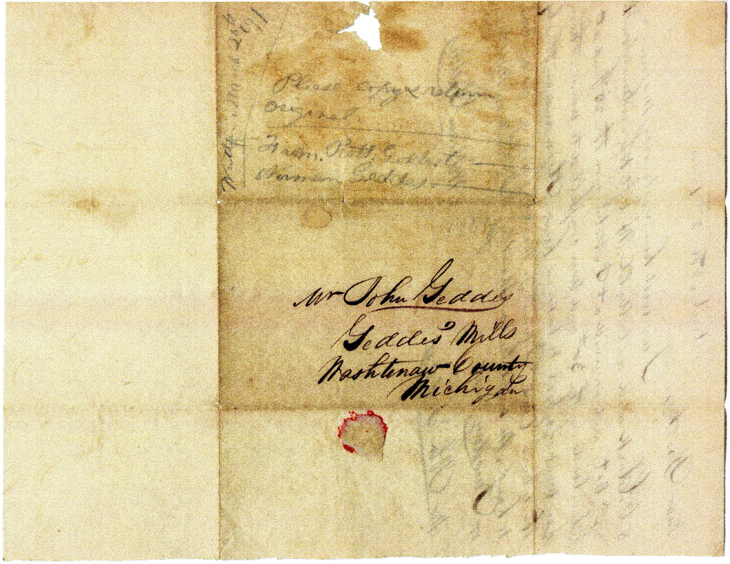 Letter From William Geddes to John Geddes, November 2, 1844 image