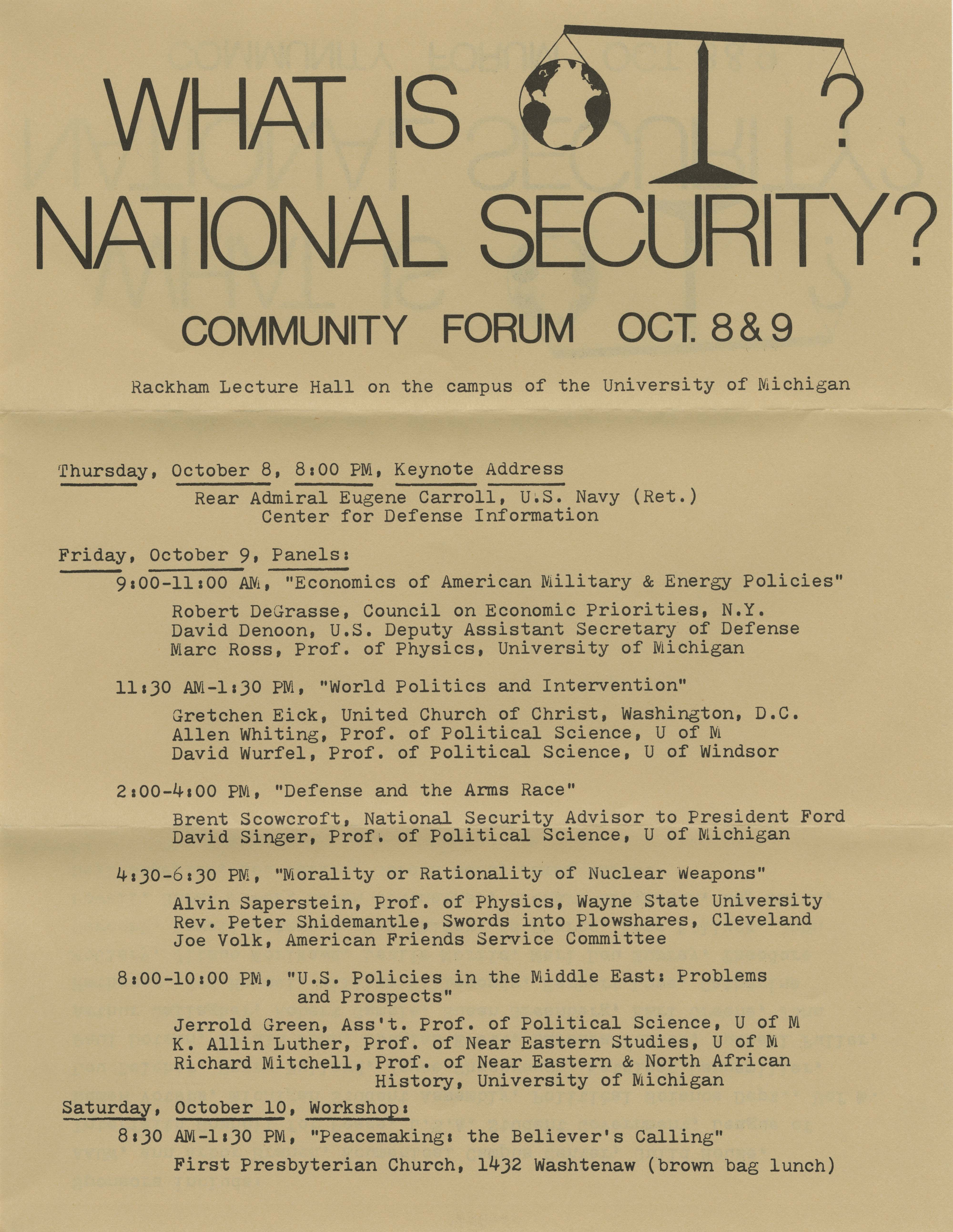 ICPJ Flyer Two: What Is National Security? image
