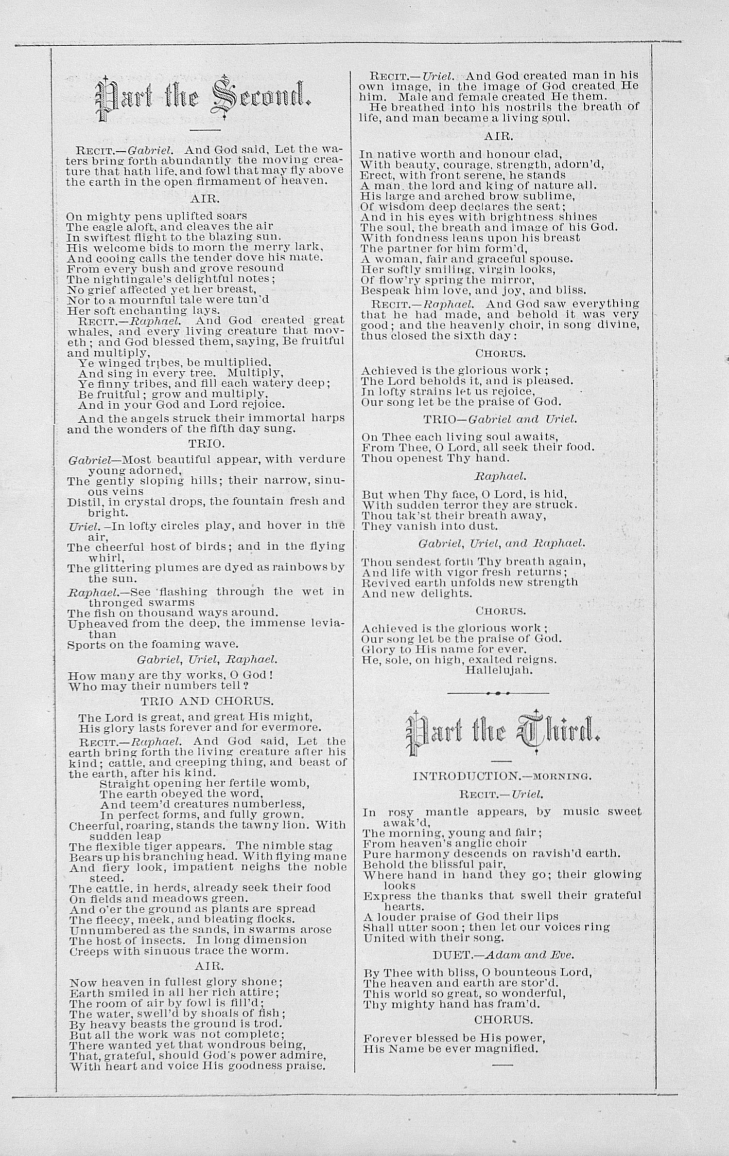 "UMS Concert Program, December 9, 1881: Haydn's Oratorio Of ""the Creation"" -- The Choral Union image"