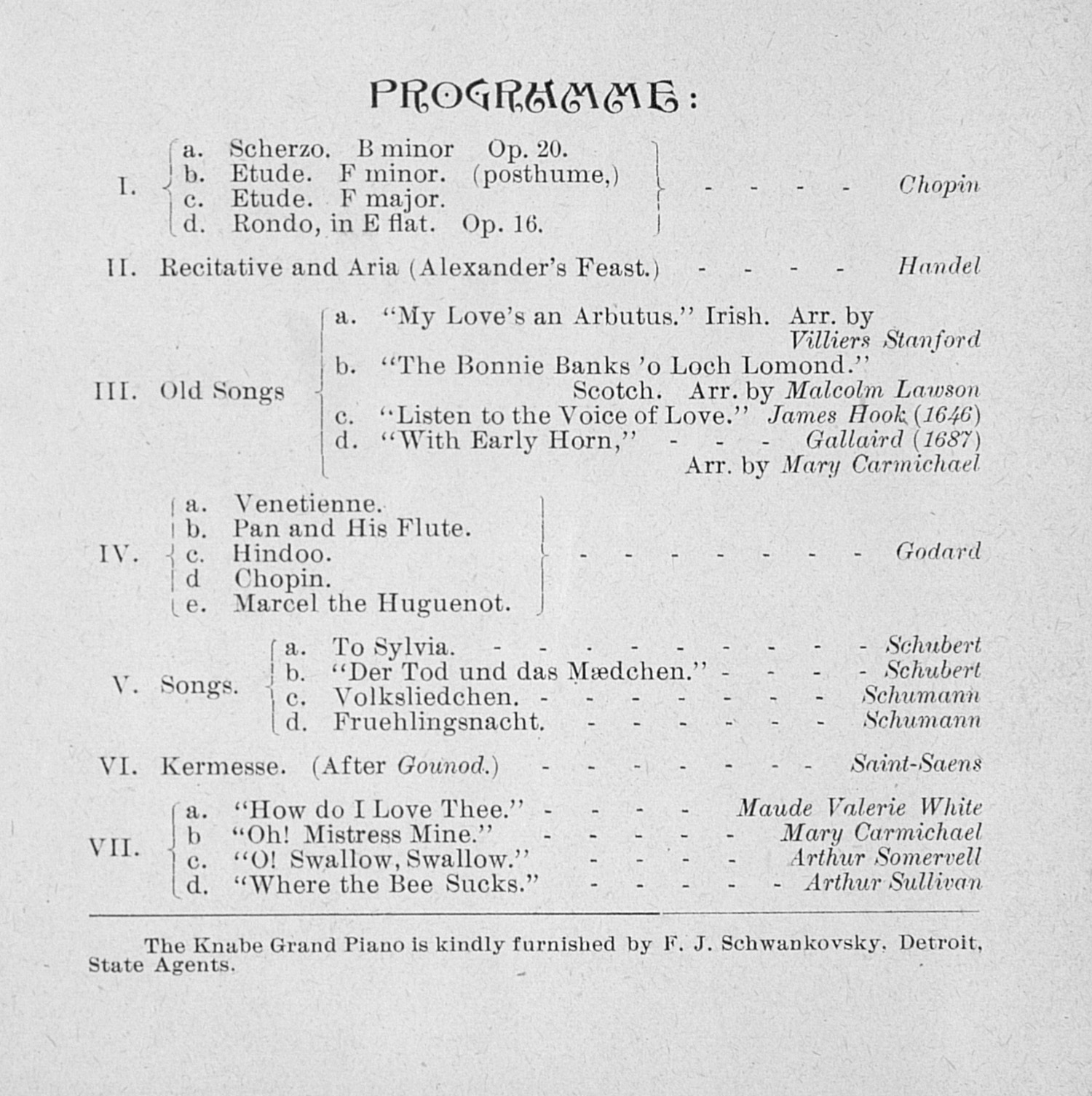 UMS Concert Program, January 21, 1893: Choral Union Series --  image