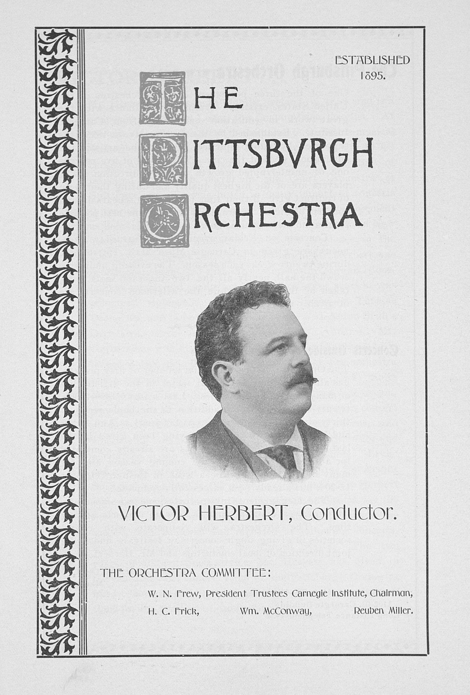 UMS Concert Program, : The Pittsbvrgh Orchestra -- Victor Herbert image