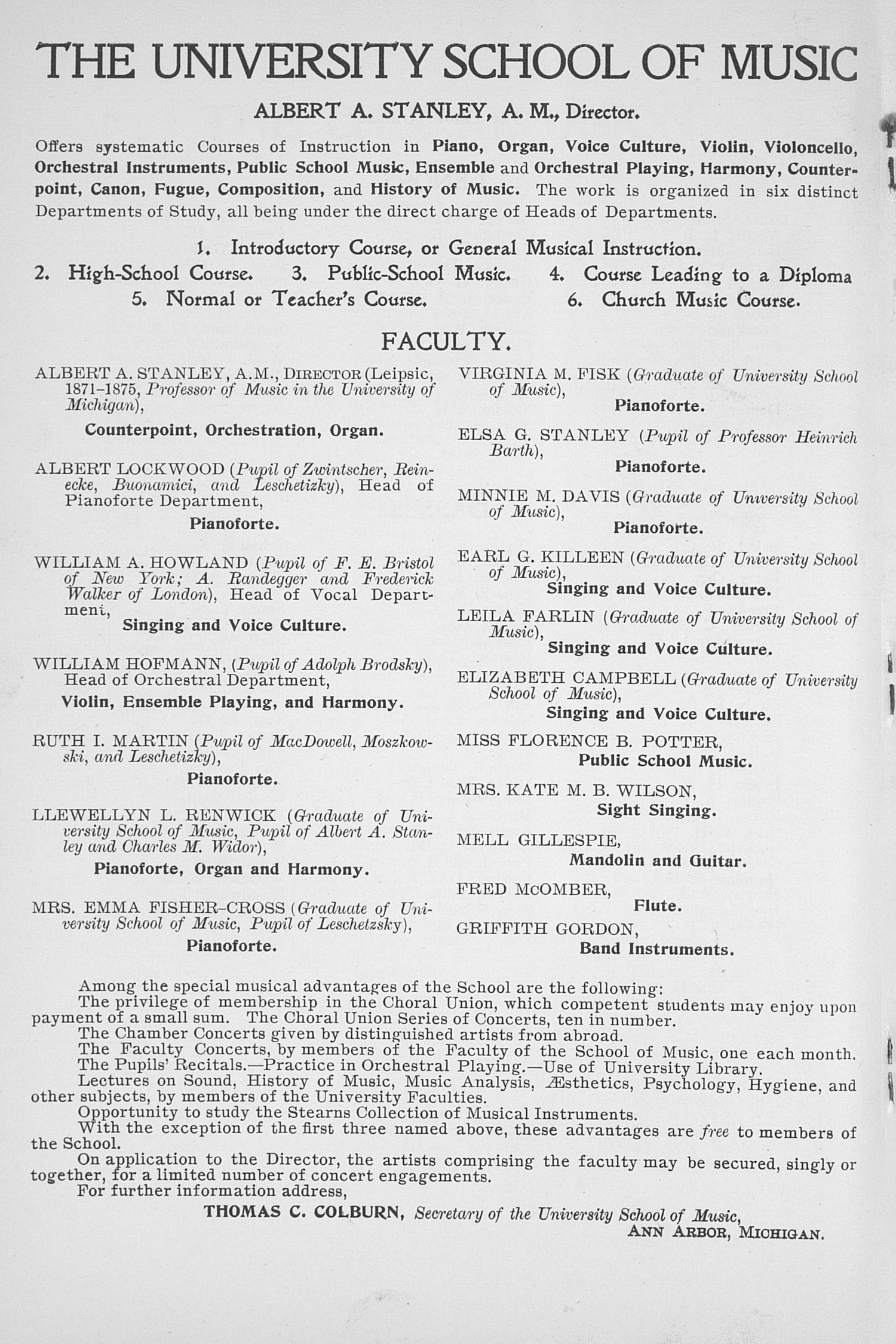 UMS Concert Program, May 14, 15, 16, 1903: Tenth Annual May Festival Of The University Of Michigan -- The Choral Union image