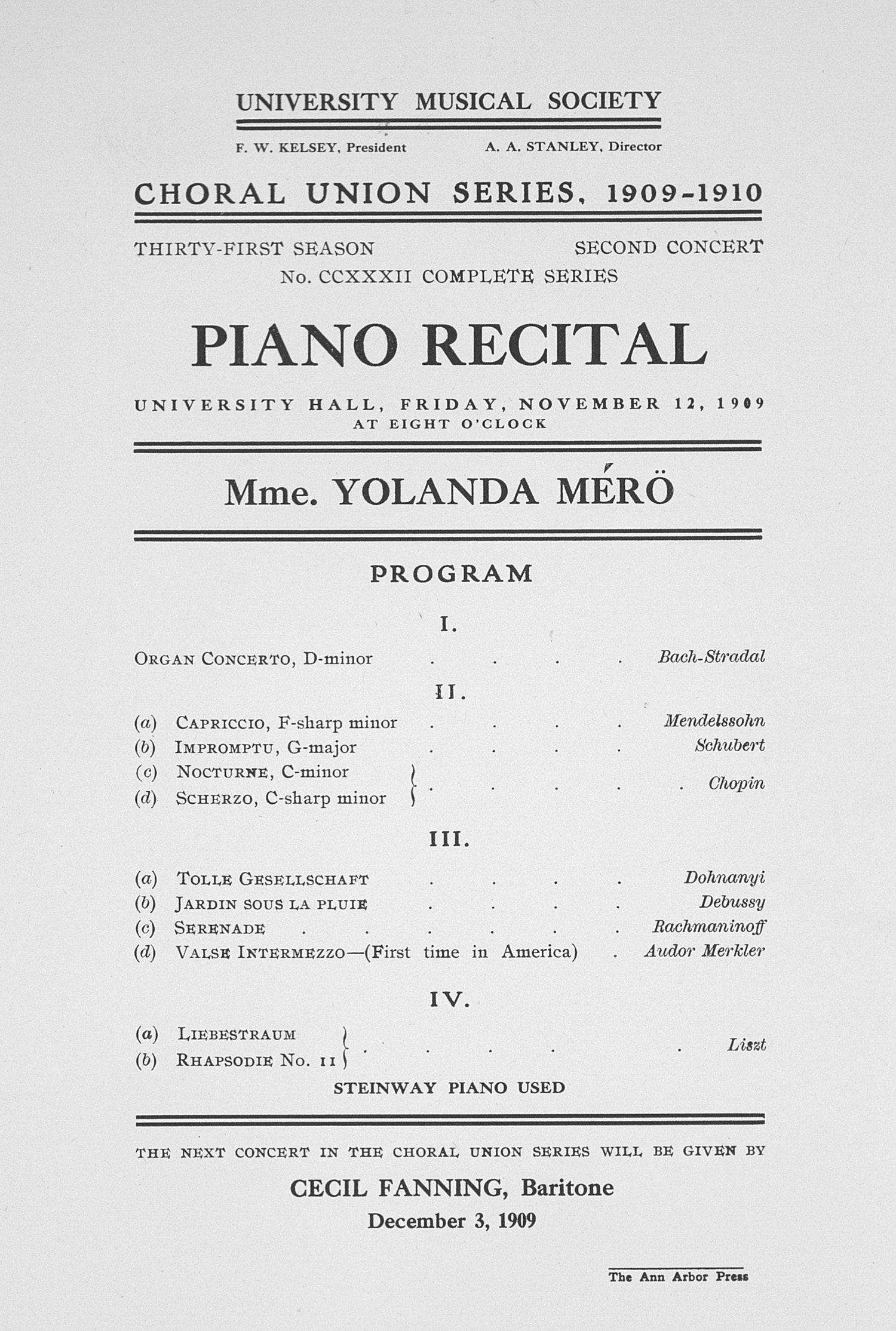 Piano Recital Program Format Ibovnathandedecker