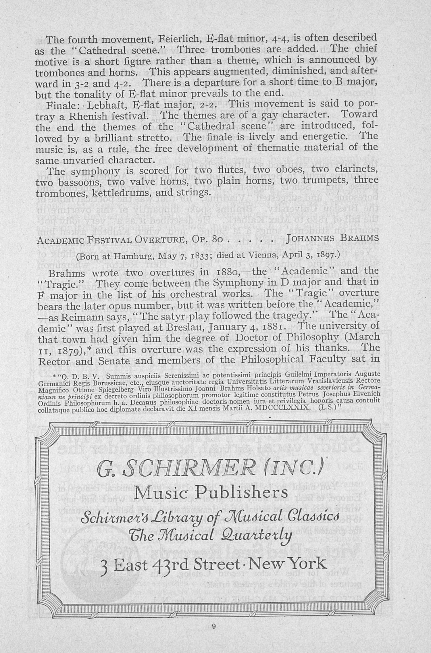 UMS Concert Program, January 26, 1917: Boston Symphony Orchestra -- Dr. Karl Muck image