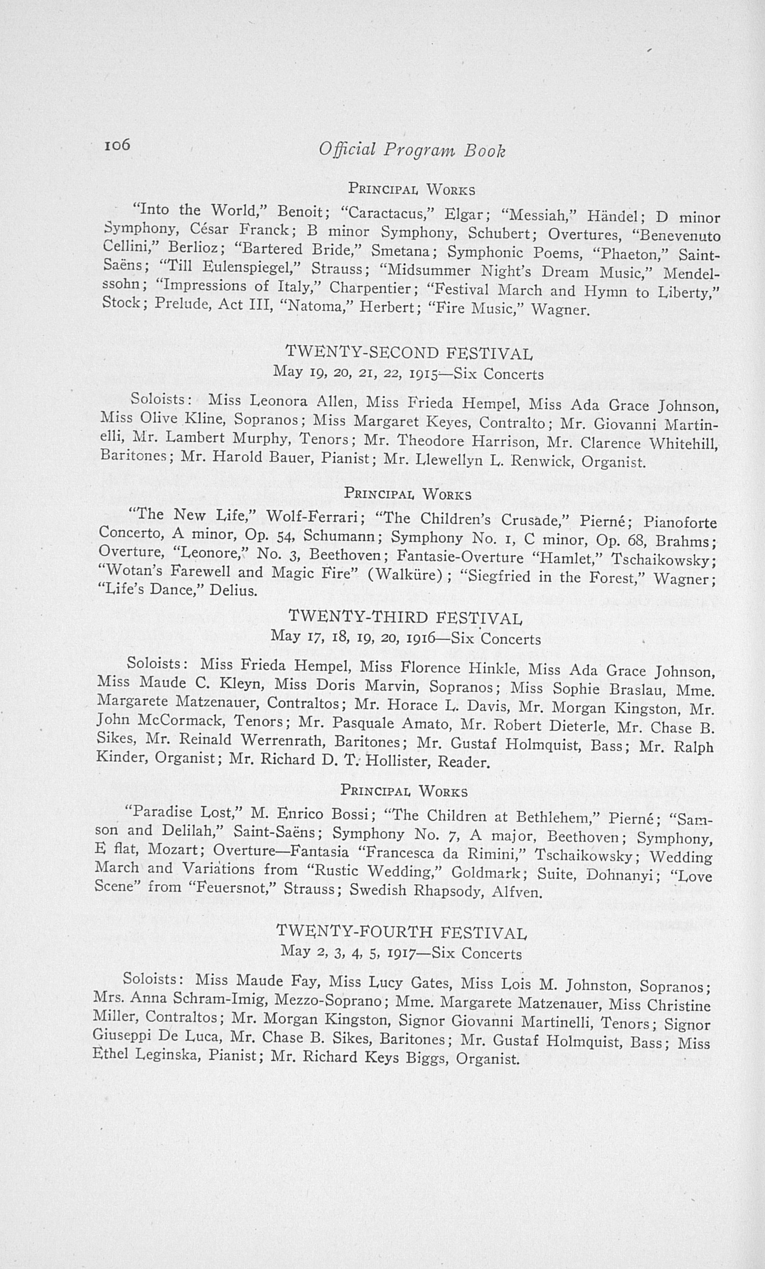 UMS Concert Program, May 18, 19, 20, 21 1921: Twenty-eighth Annual May Festival Of The University Of Michigan -- Albert A. Stanley image
