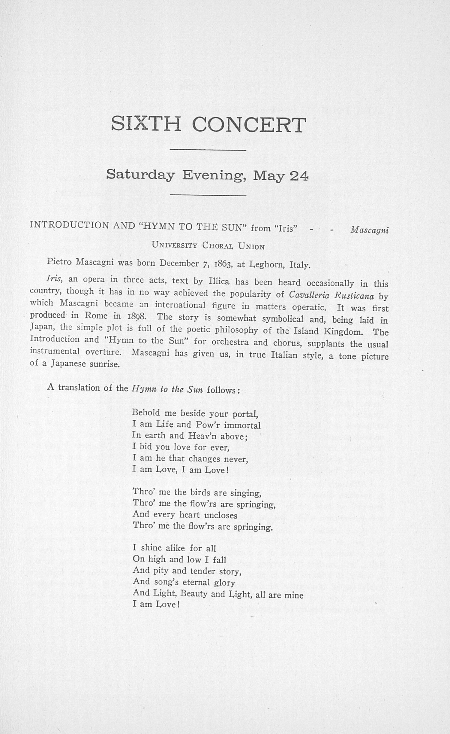 UMS Concert Program, May 21, 22, 23, 24, 1924: Thirty-first Annual May Festival Of The University Of Michigan   -- Earl V. Moore image