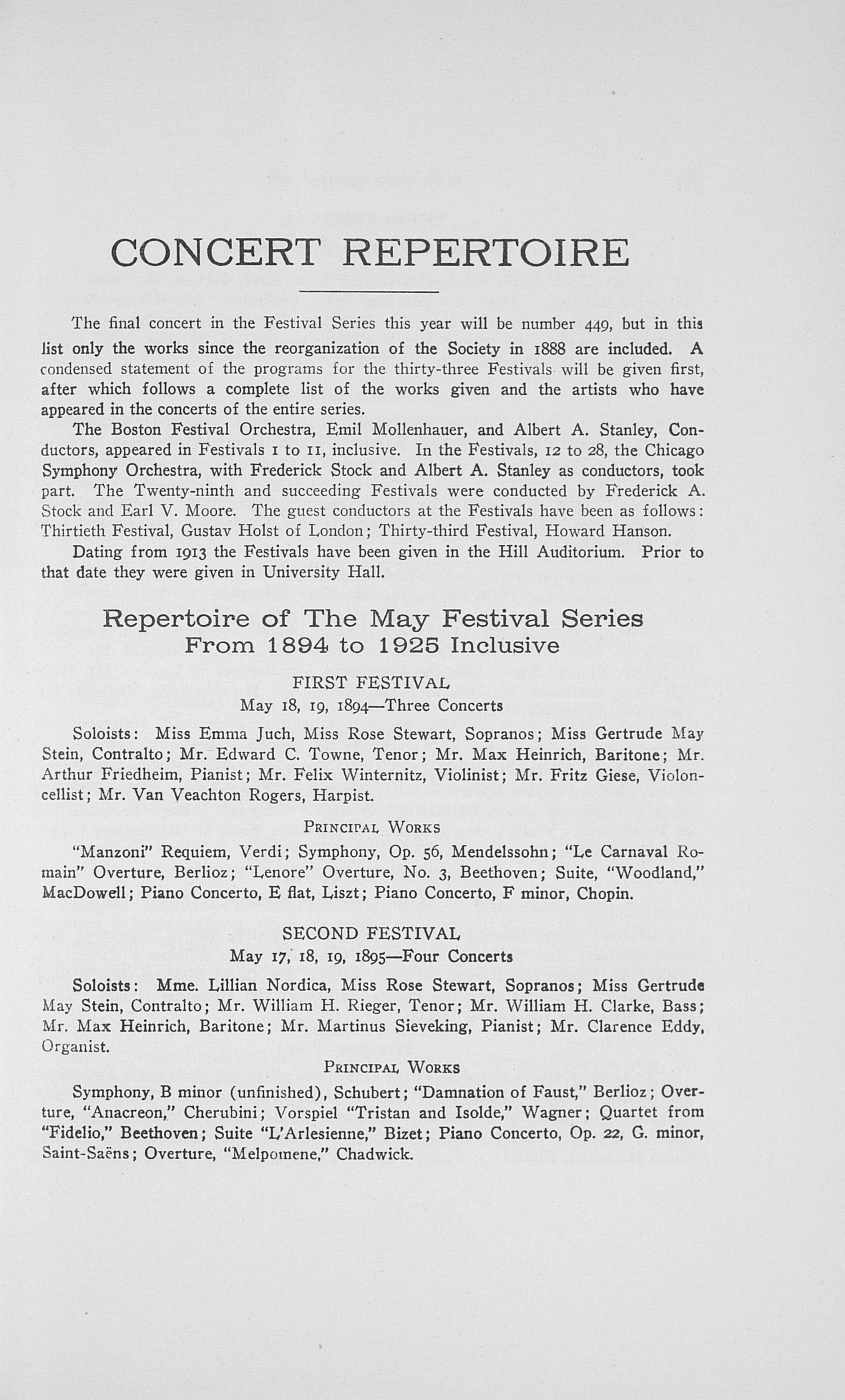 UMS Concert Program, May 19, 20, 21, 22 1926: The Thirty-third Annual May Festival -- Earl V. Moore image