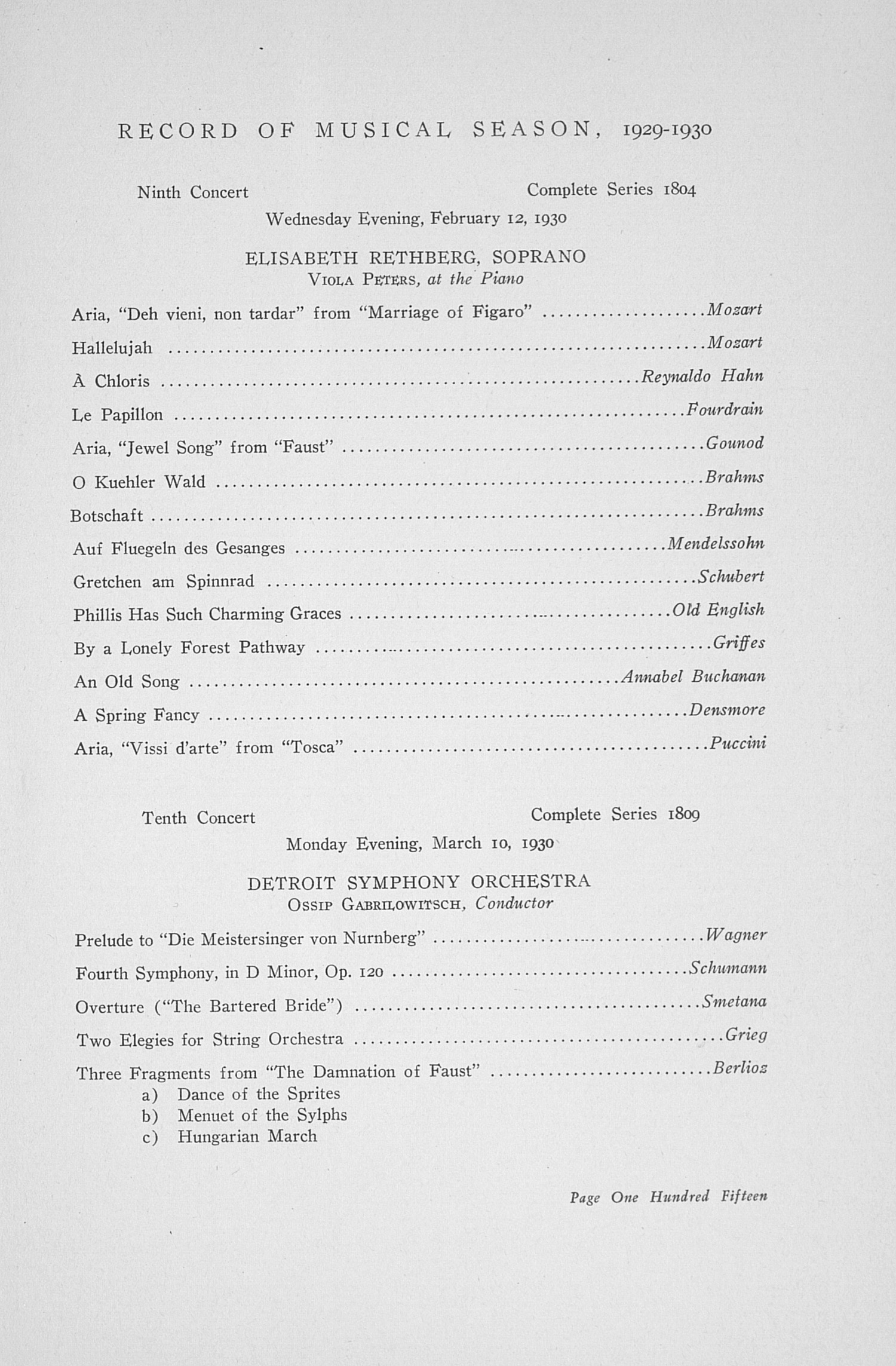 UMS Concert Program, May 14, 15, 16, 17 1930: The Thirty-seventh Annual May Festival -- Earl V. Moore image