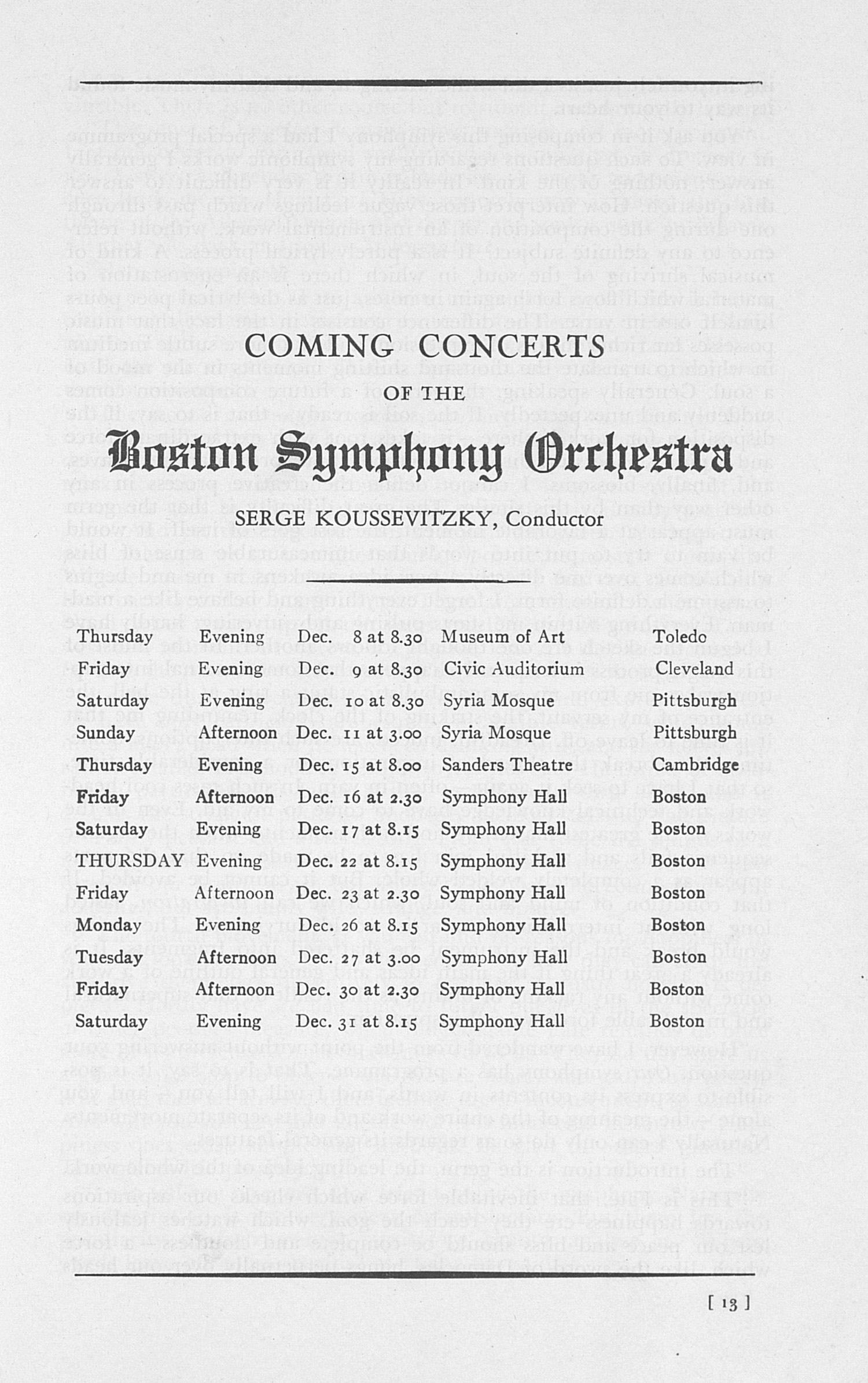 UMS Concert Program, December 7: Sixtieth Annual Choral Union Concert Series - 1938 image