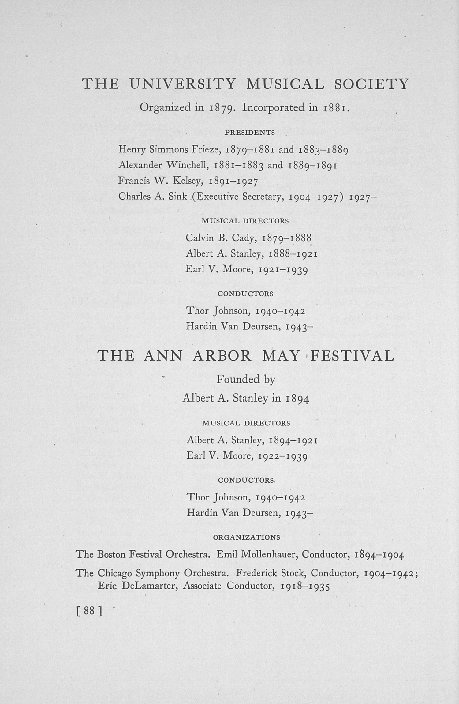 UMS Concert Program, May 5,6,7, And 1943: The Fiftieth Annual May Festival -- The Philadelphia Orchestra image