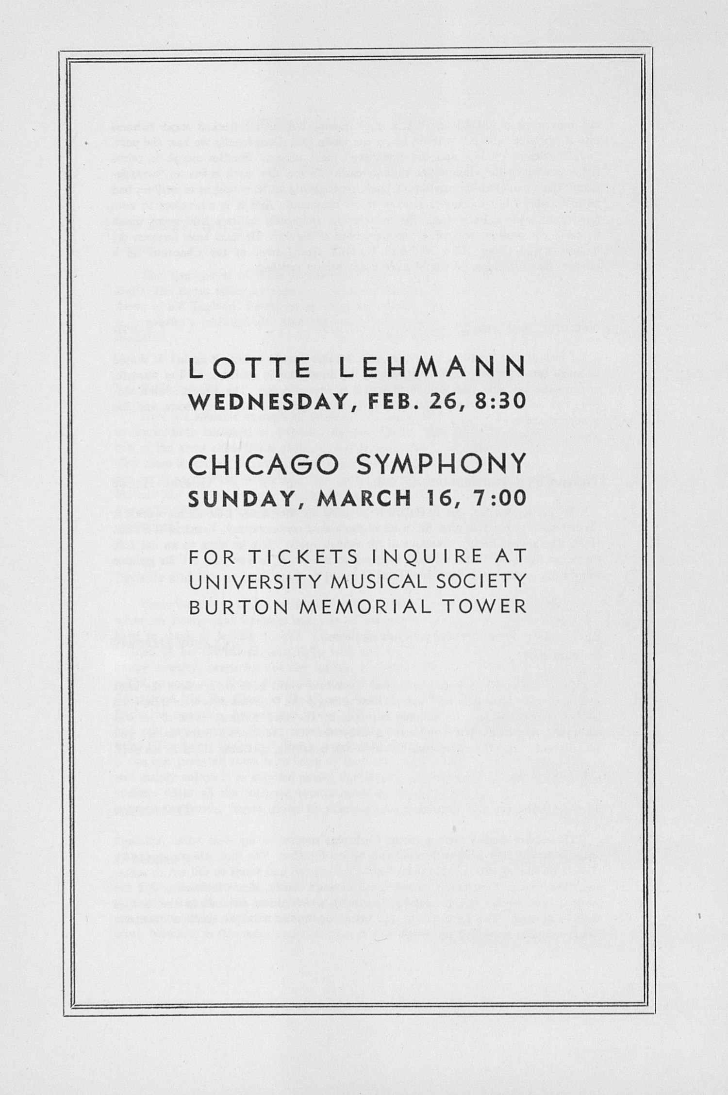 UMS Concert Program, February 21, 1947:  -- Alec Templeton image