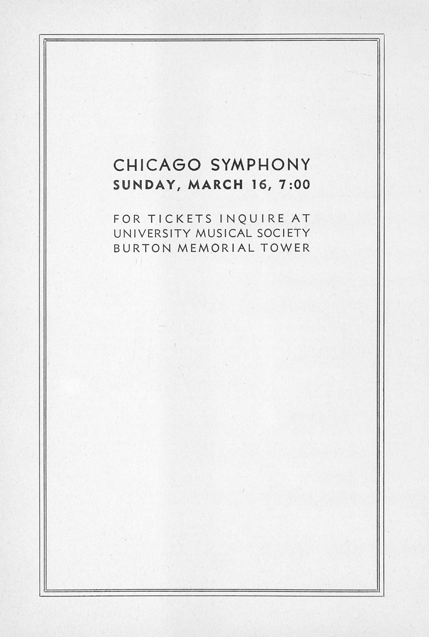 UMS Concert Program, February 26, 1947: Sixty-eighth Annual Choral Union Concert Series -- Lotte Lehmann image