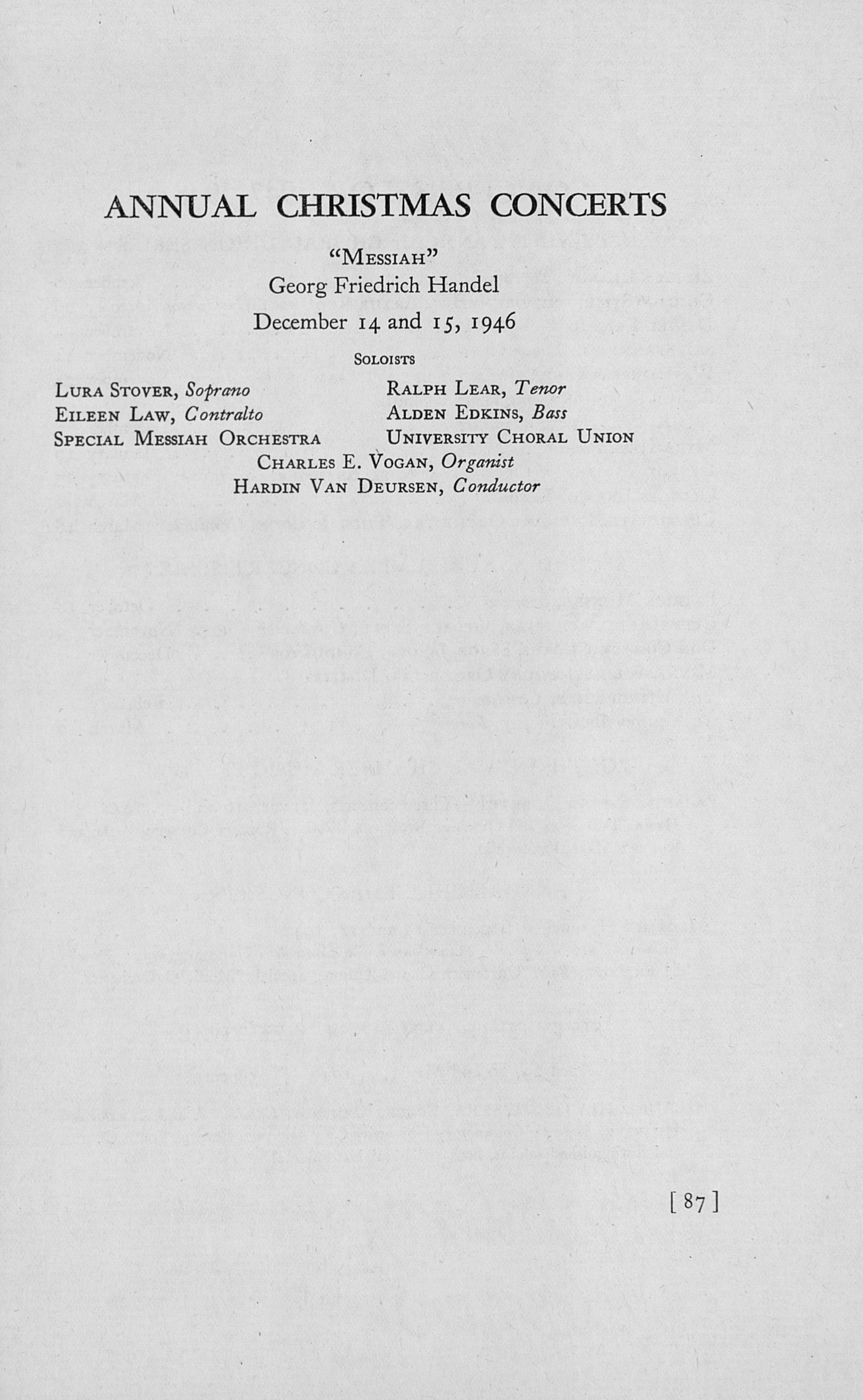 UMS Concert Program, May 8,9, 10, And 11, 1947: The Fifty-fourth Annual May Festival -- The Philadelphia Orchestra image