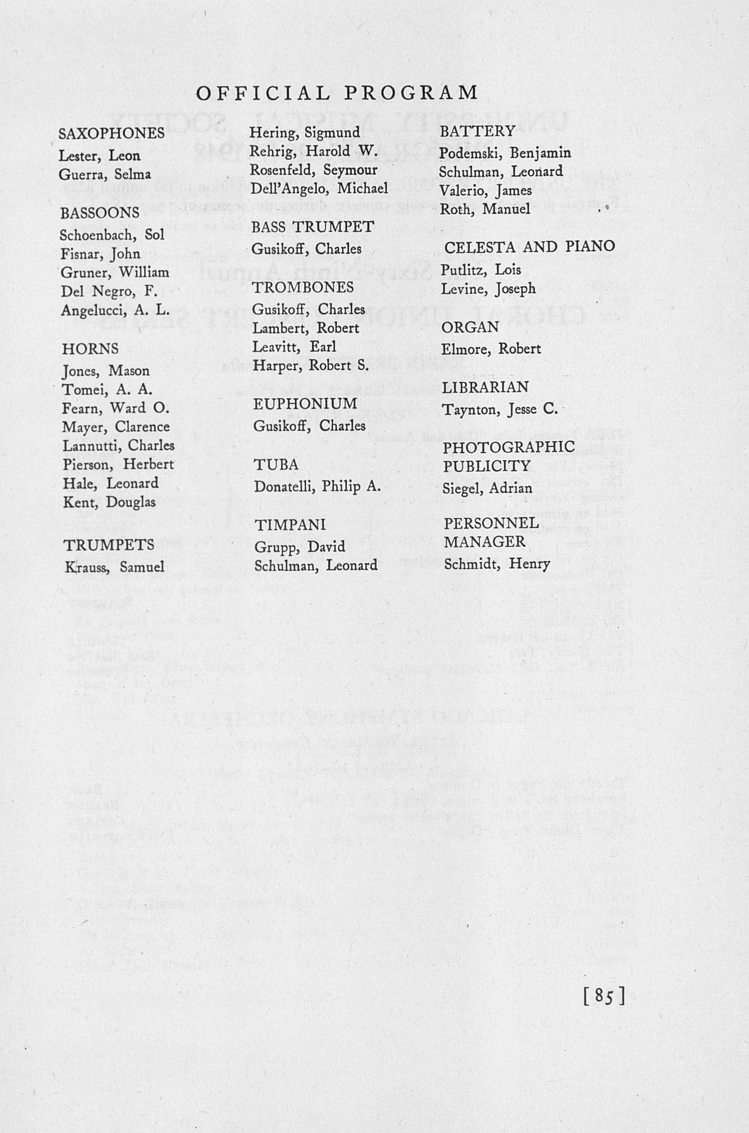 UMS Concert Program, April 29, 30 And May 1, 2, 1948: The Fifty-fifth Annual May Festival -- Glenn D. Mcgeoch image