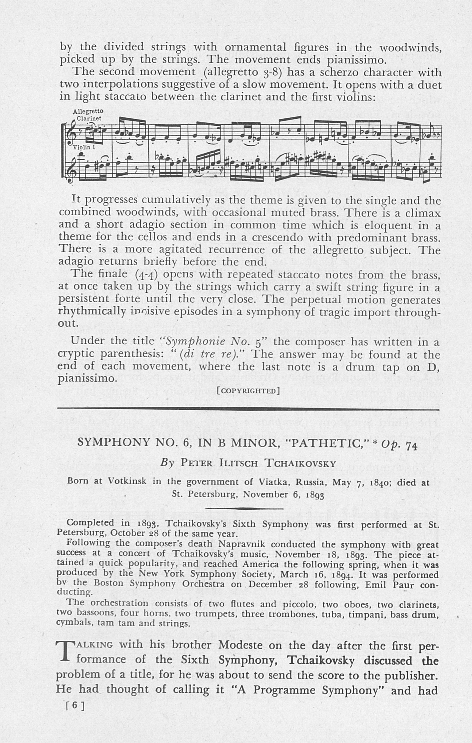 UMS Concert Program, October 21: Boston Symphony Orchestra -- Henry Lee Higginson image