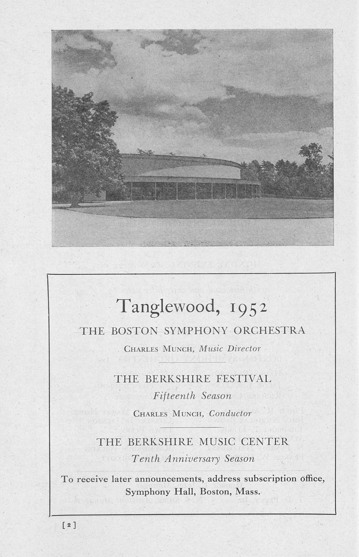 UMS Concert Program, October 22: Boston Symphony Orchestra -- Henry Lee Higginson image