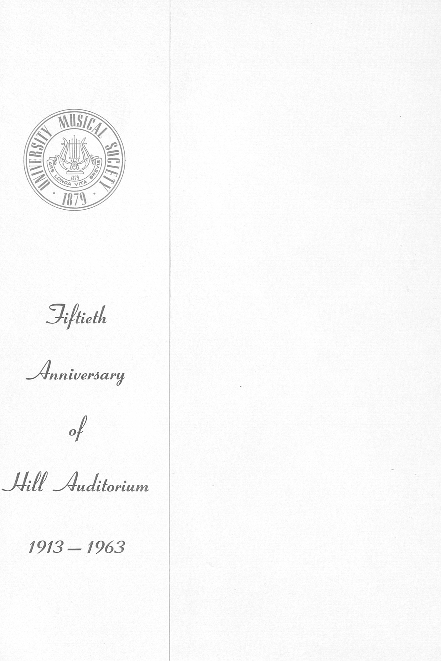UMS Concert Program, May 9, 10, 11, 12, 1963: The Seventieth Annual Ann Arbor May Festival -- The Philadelphia Orchestra image