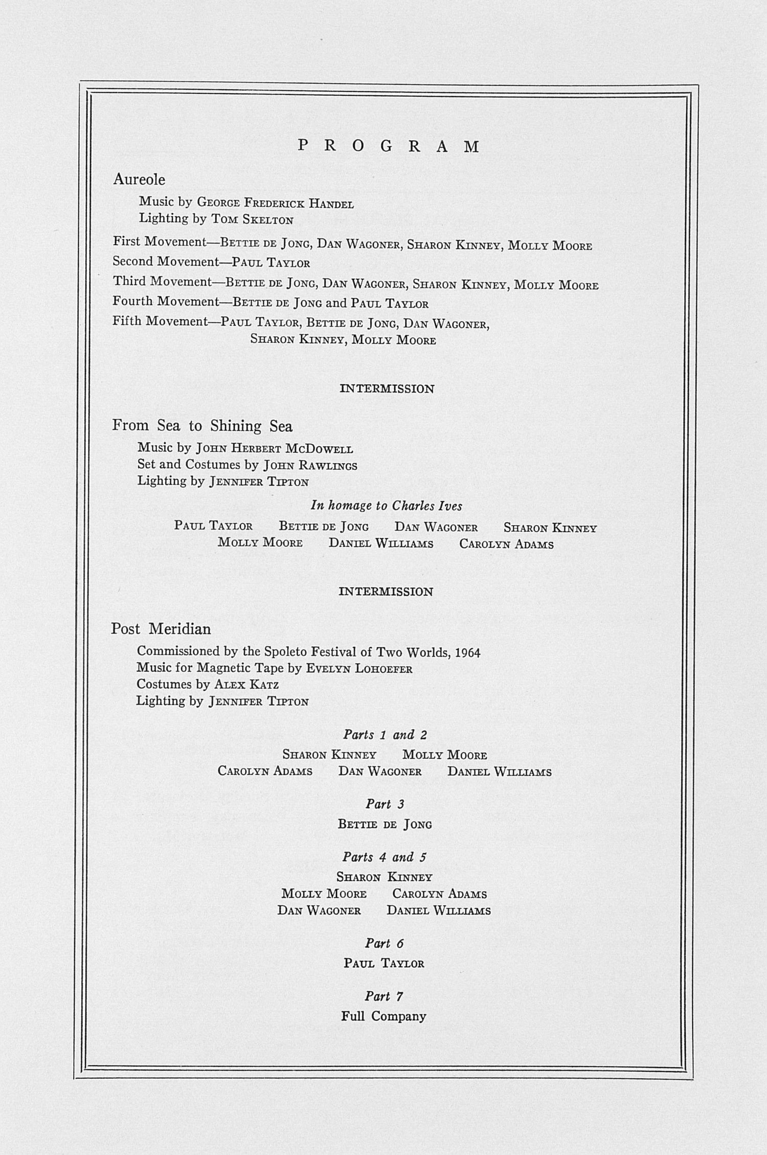 UMS Concert Program, October 22, 23, 24, 1965: Chamber Dance Festival --  image