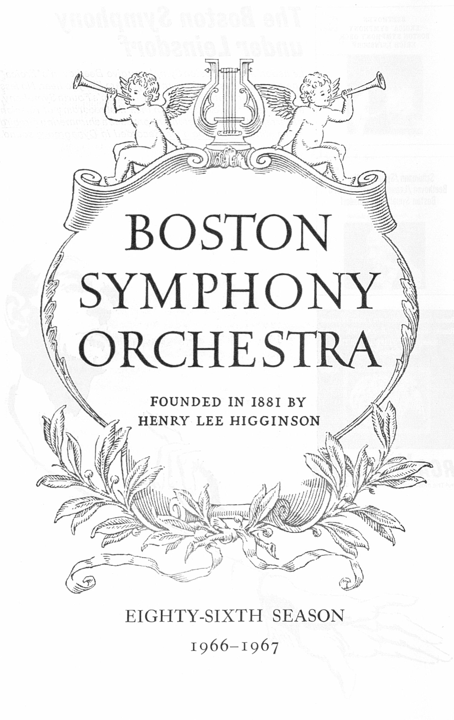 UMS Concert Program, April 8: Boston Symphony Orchestra -- Henry Lee Higginson image