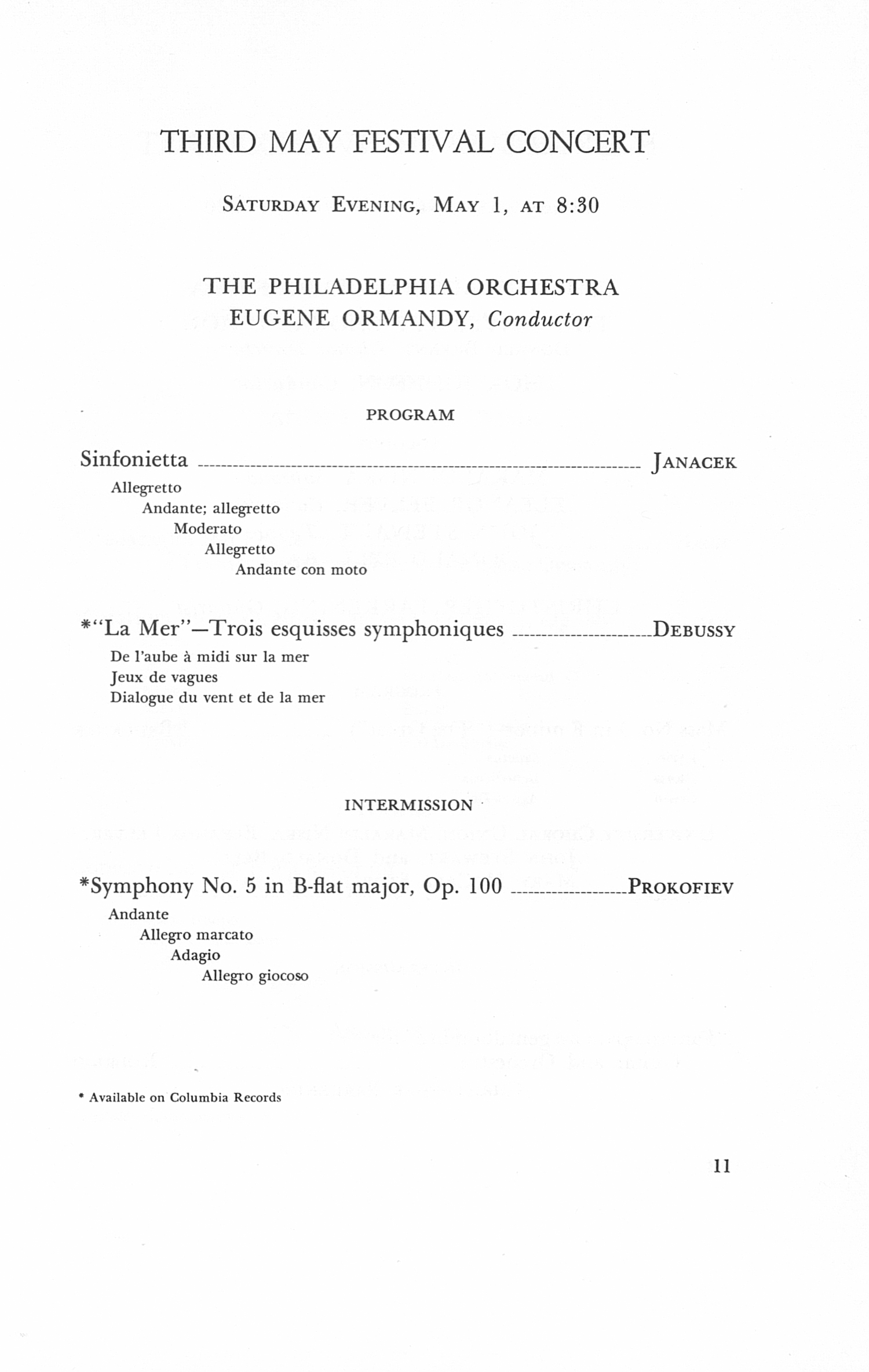 UMS Concert Program, April 29, 30; May 1, 2, 1971: The Seventy-eighth Ann Arbor May Festival -- The Philadelphia Orchestra image