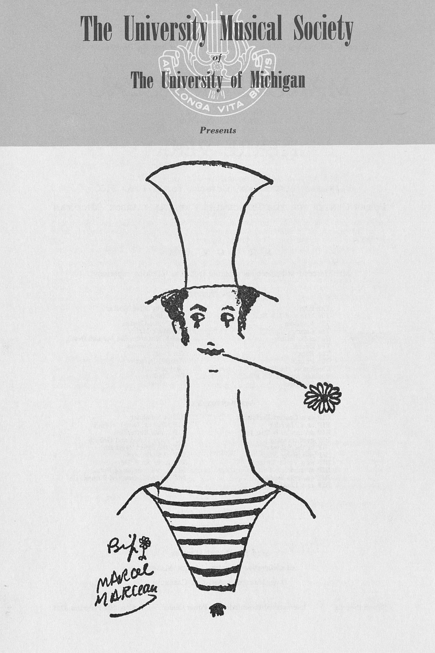UMS Concert Program, October 16, 1971: Marcel Marceau And His Partner Pierre Verry --  image