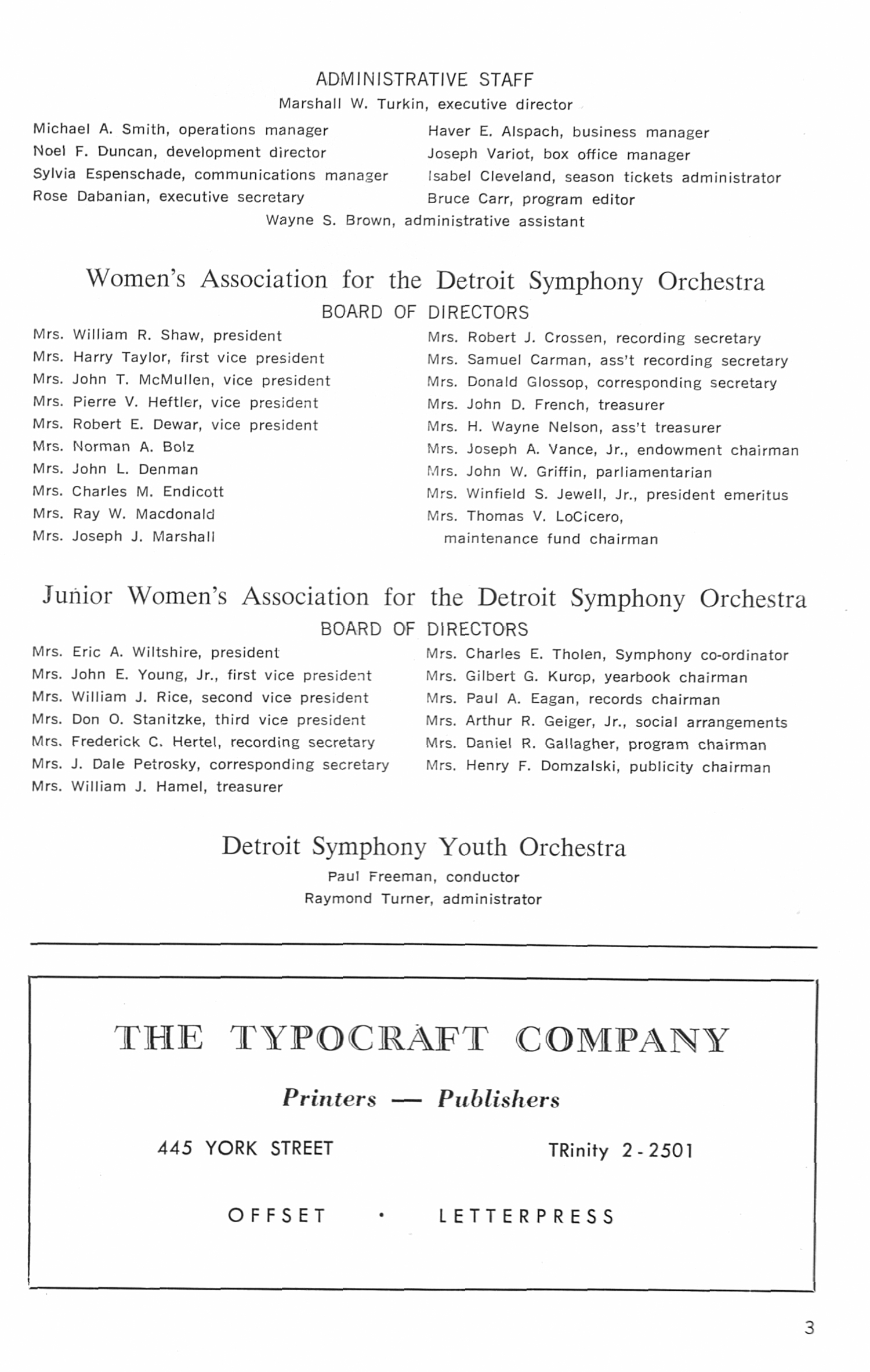 UMS Concert Program, January 11, 1975: Detroit Symphony -- The Detroit Symphony Orchestra, Inc. image