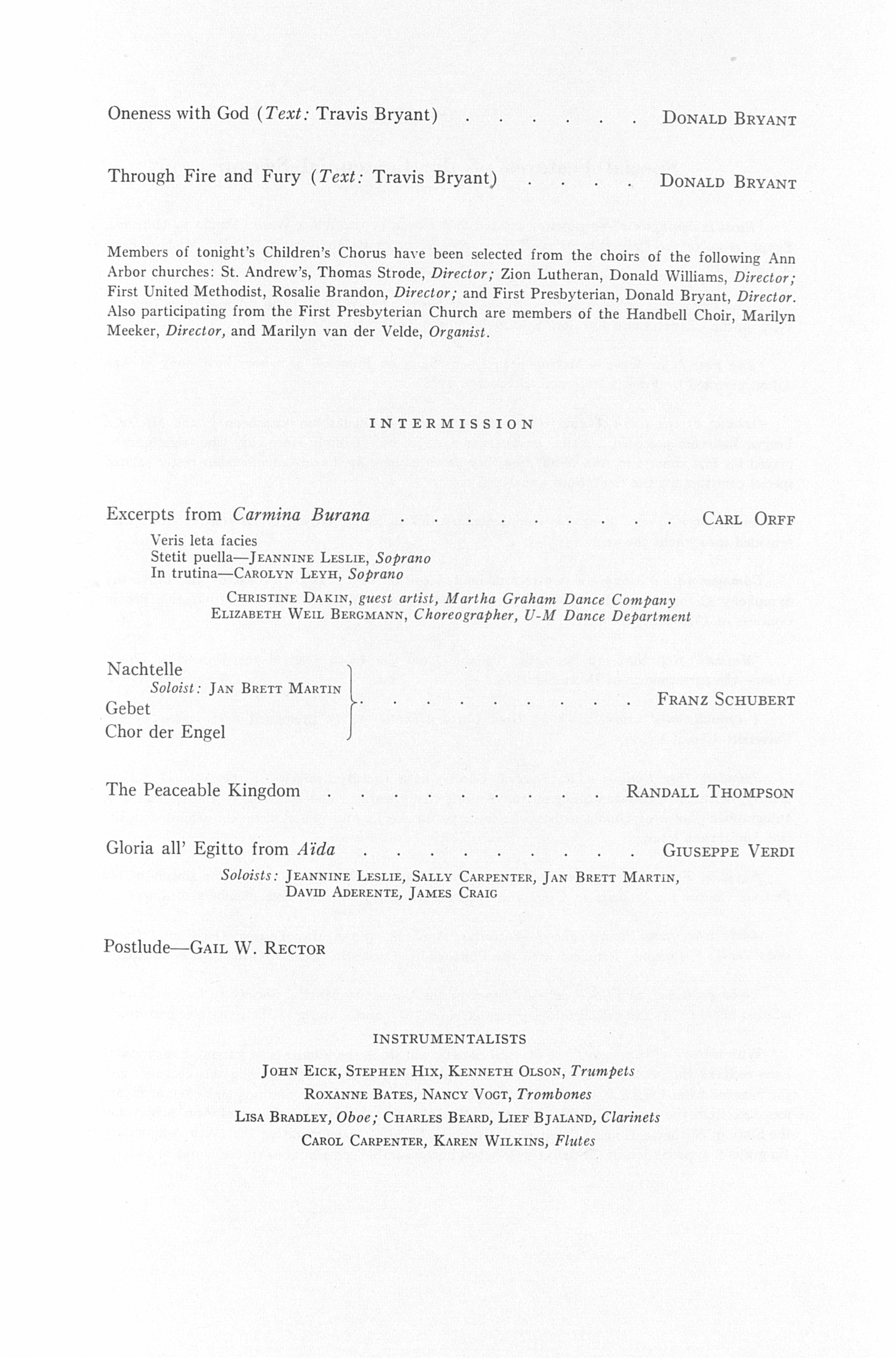 UMS Concert Program, February 24, 1979: Founders Day Celebration Concert --  image