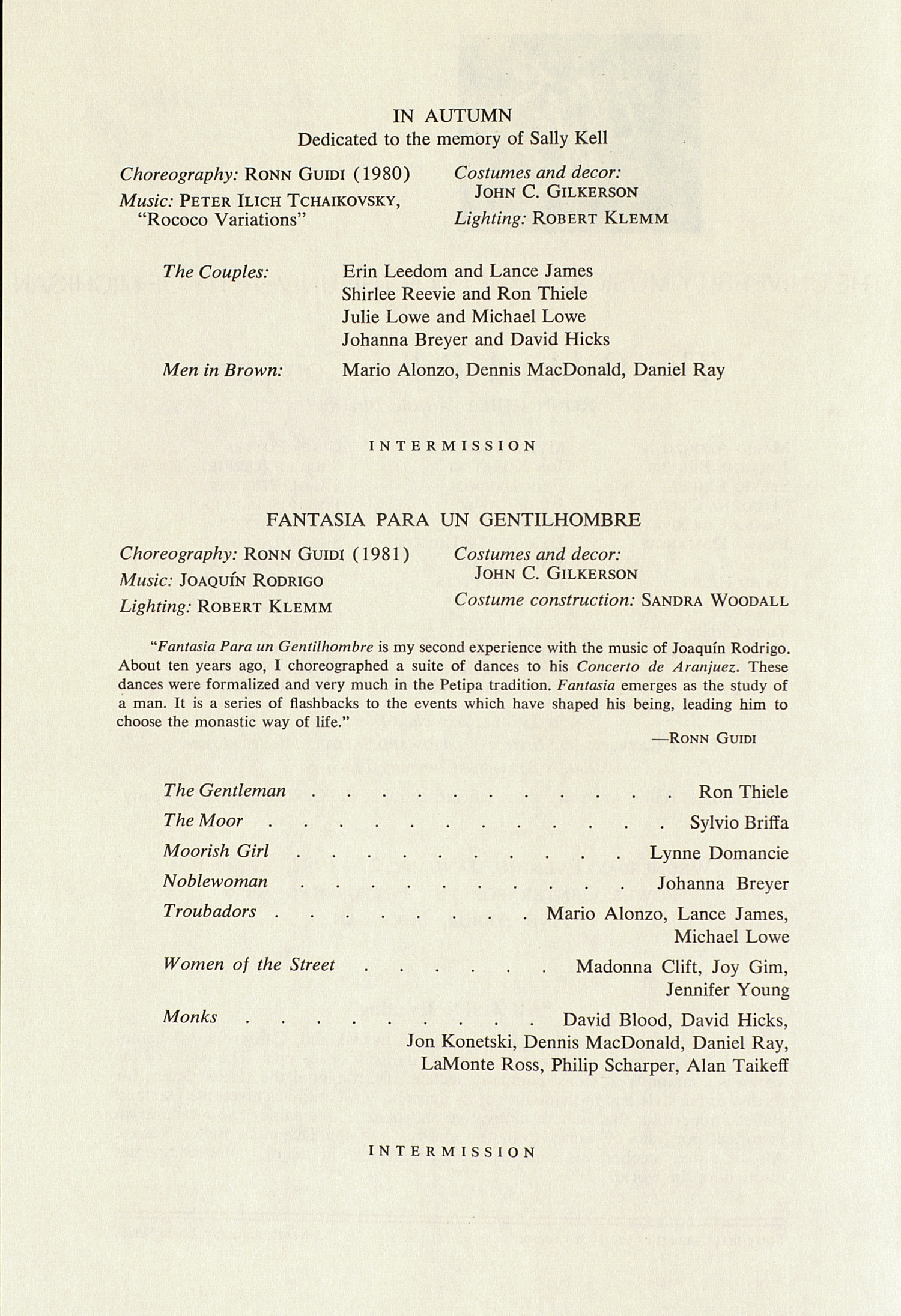 UMS Concert Program, January 27, 1982: International Presentations Of Music & Dance -- The Oakland Ballet Company image