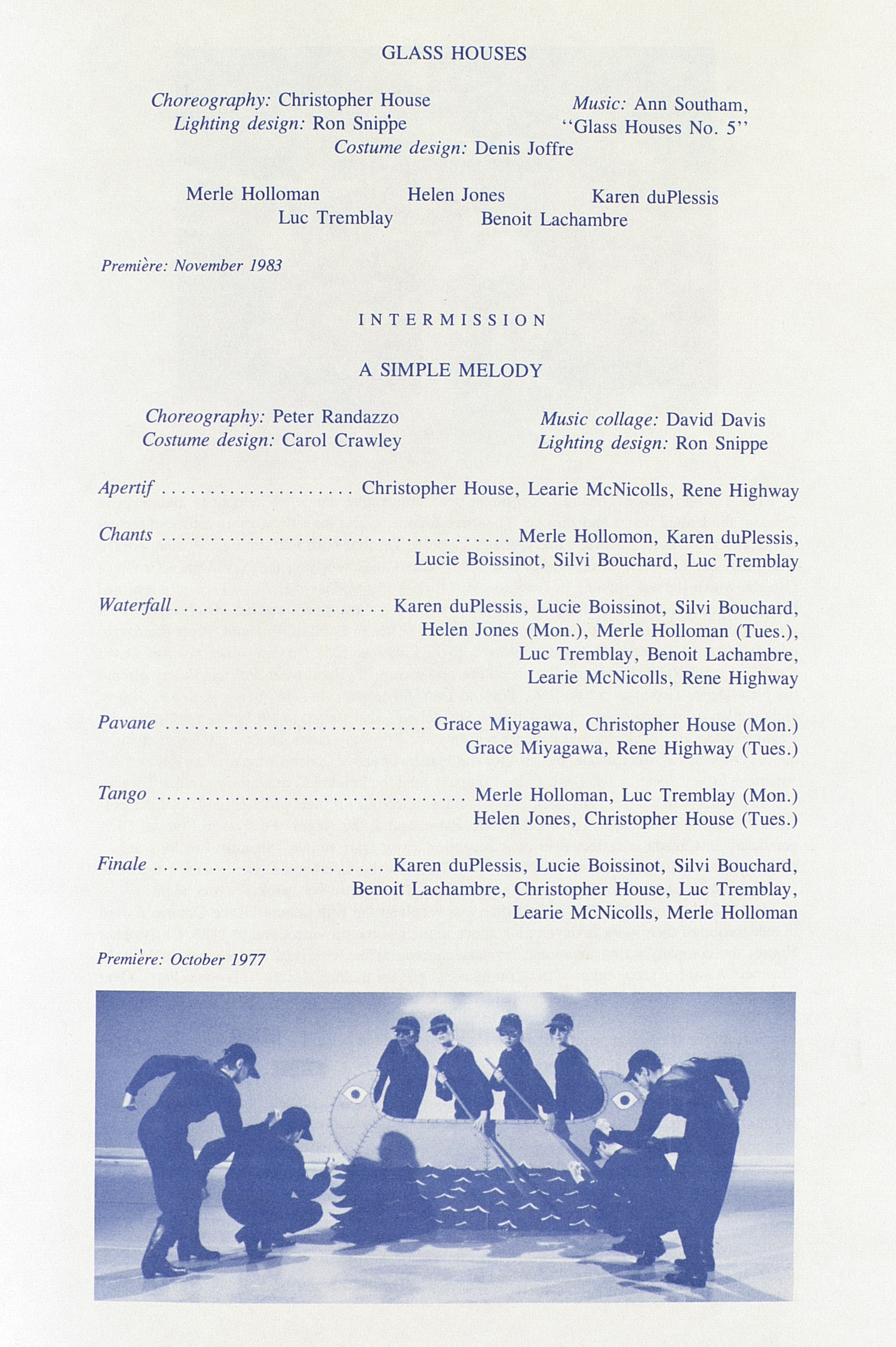 UMS Concert Program, July 1 And 2, 1985: Ann Arbor Summer '85 Festival -- Toronto Dance Theatre image