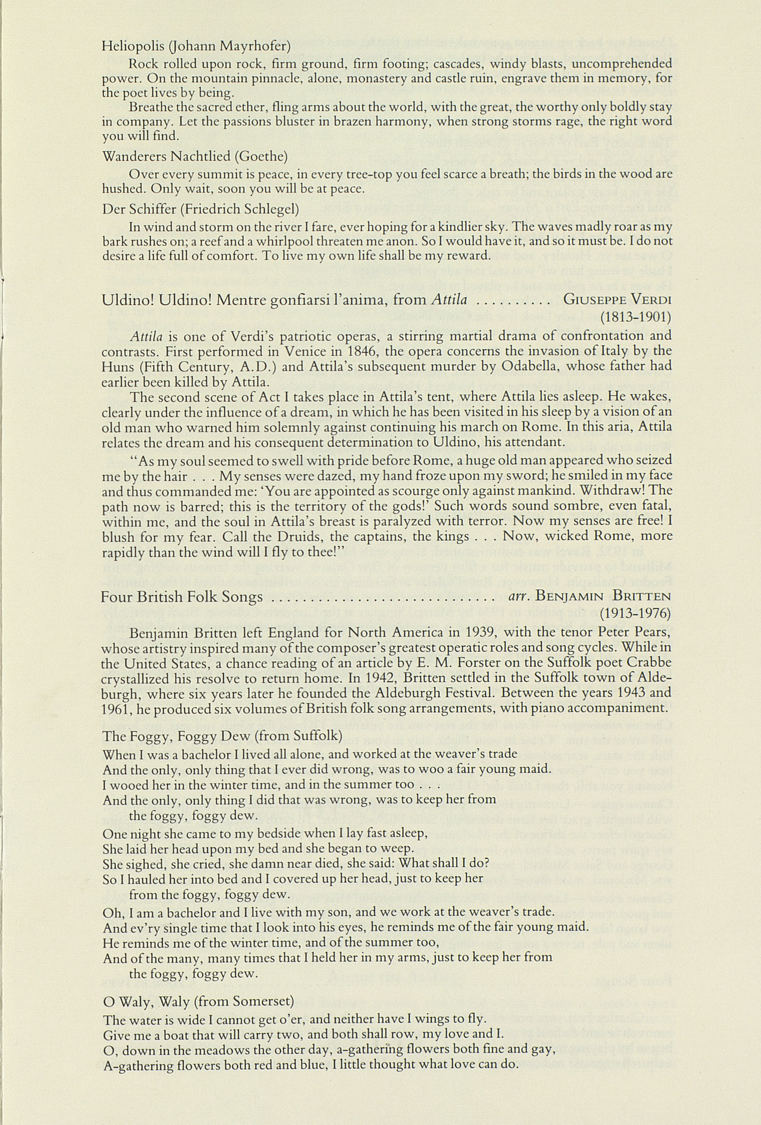 UMS Concert Program, November 27, 1989: International Presentations Of Music & Dance --  image