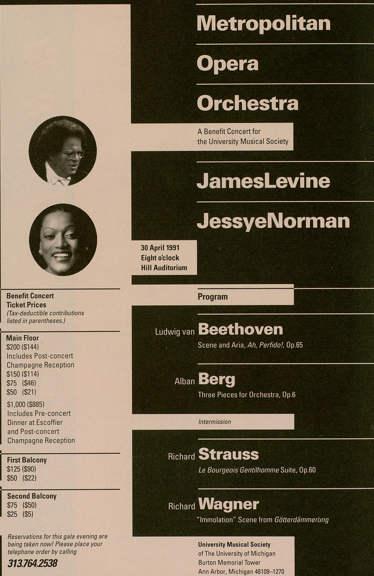 UMS Concert Program, March 16, 1991: Pirin --  image