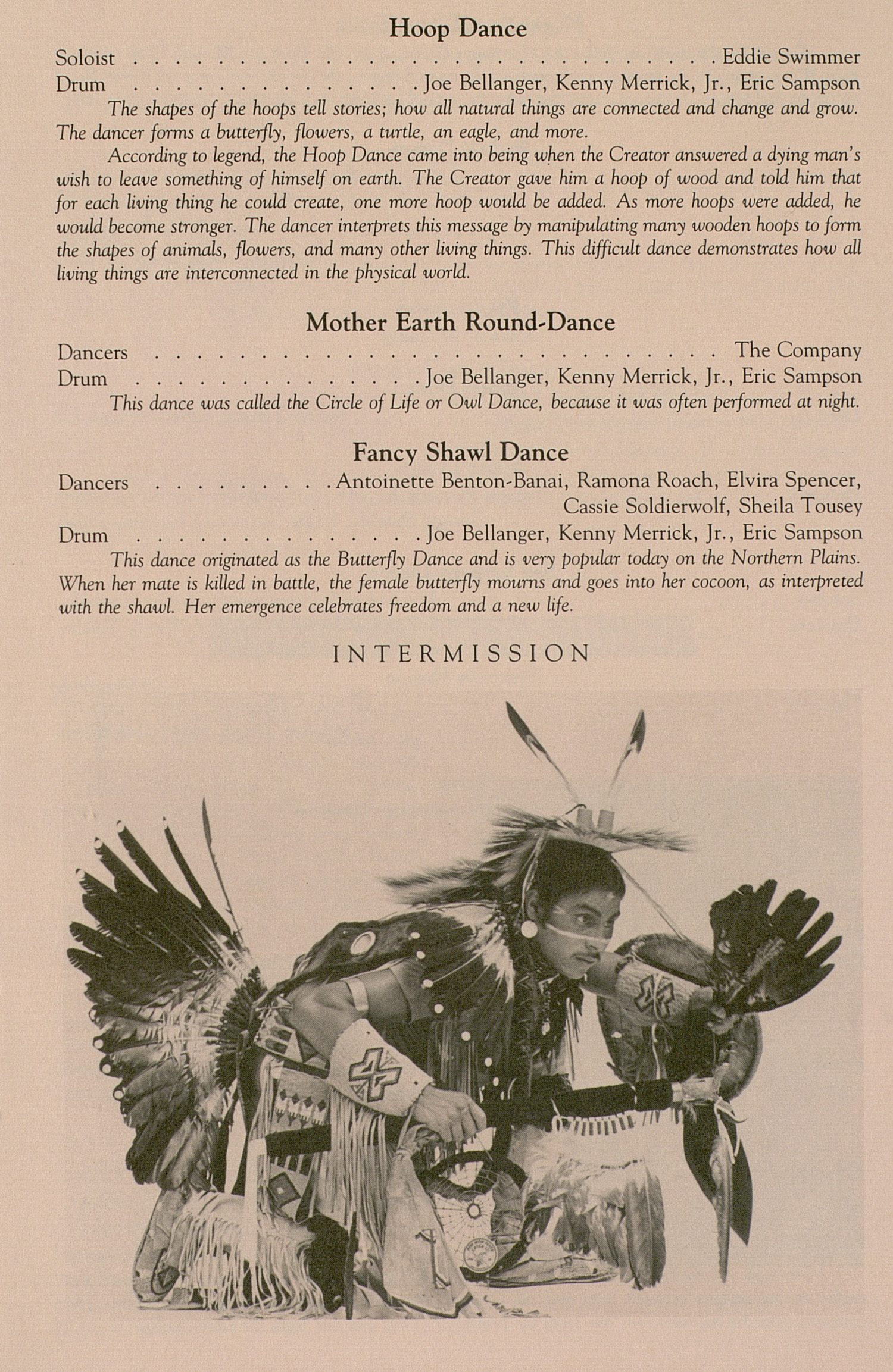 UMS Concert Program, March 25, 1991: University Musical Society -- American Indian Dance Theatre image