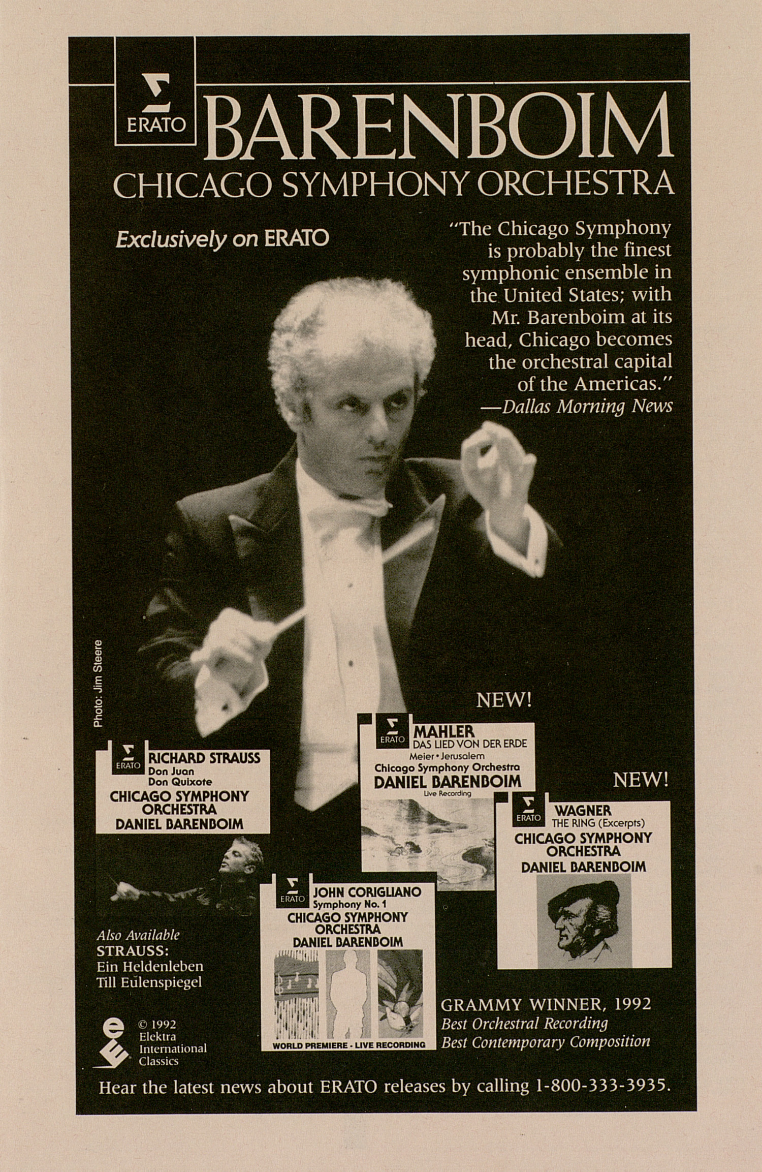 UMS Concert Program, March 30, 1992: University Musical Society -- Chicago Symphony Orchestra image