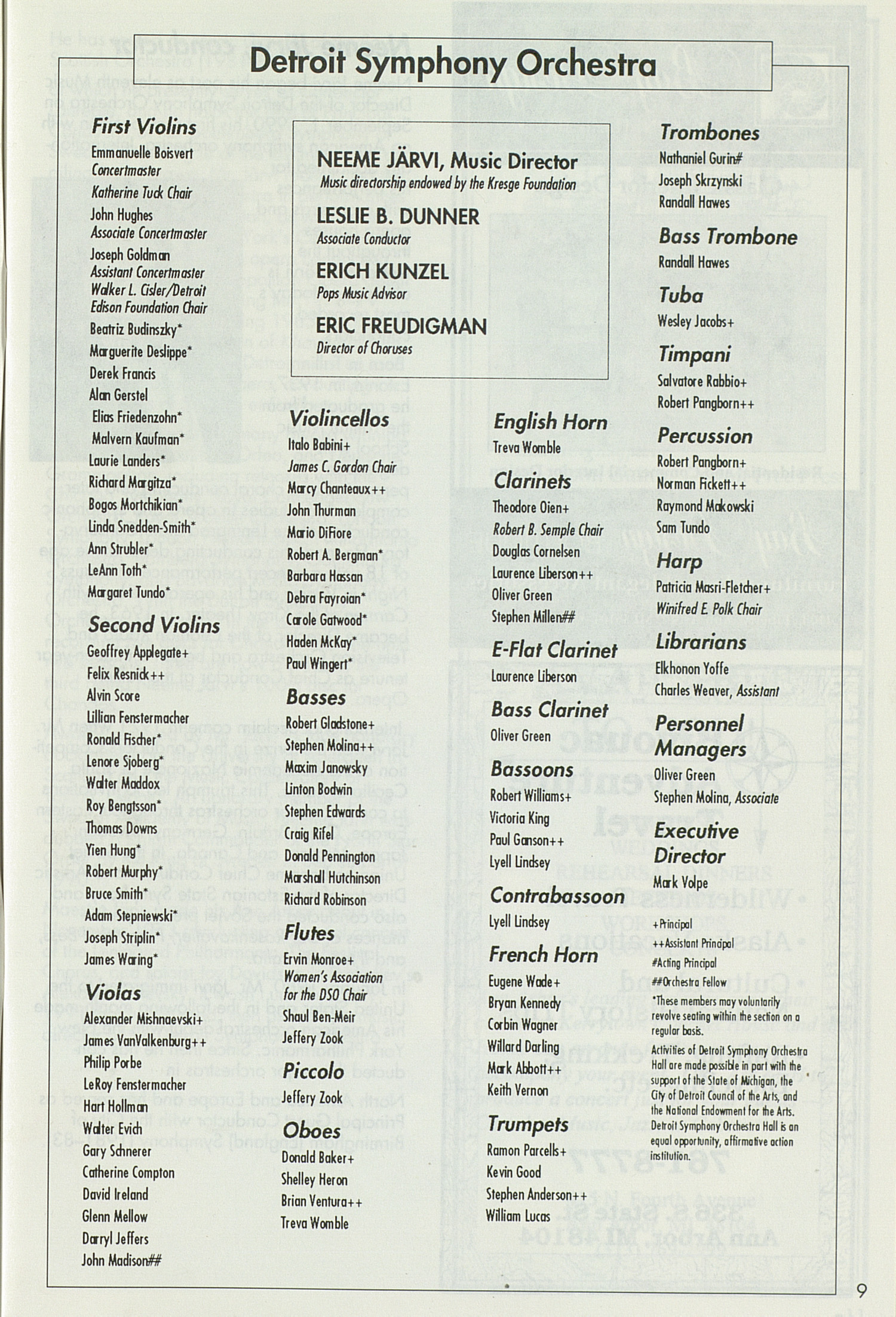 UMS Concert Program, May 69, 1992: May Festival --  image