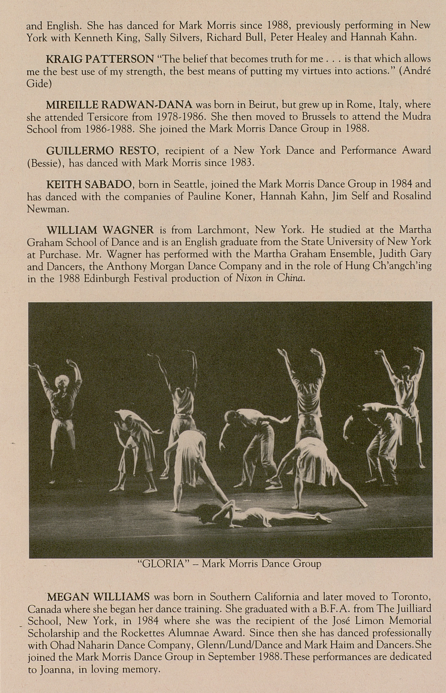 UMS Concert Program, March 20-21, 1993: Mark Morris Dance Group --  image