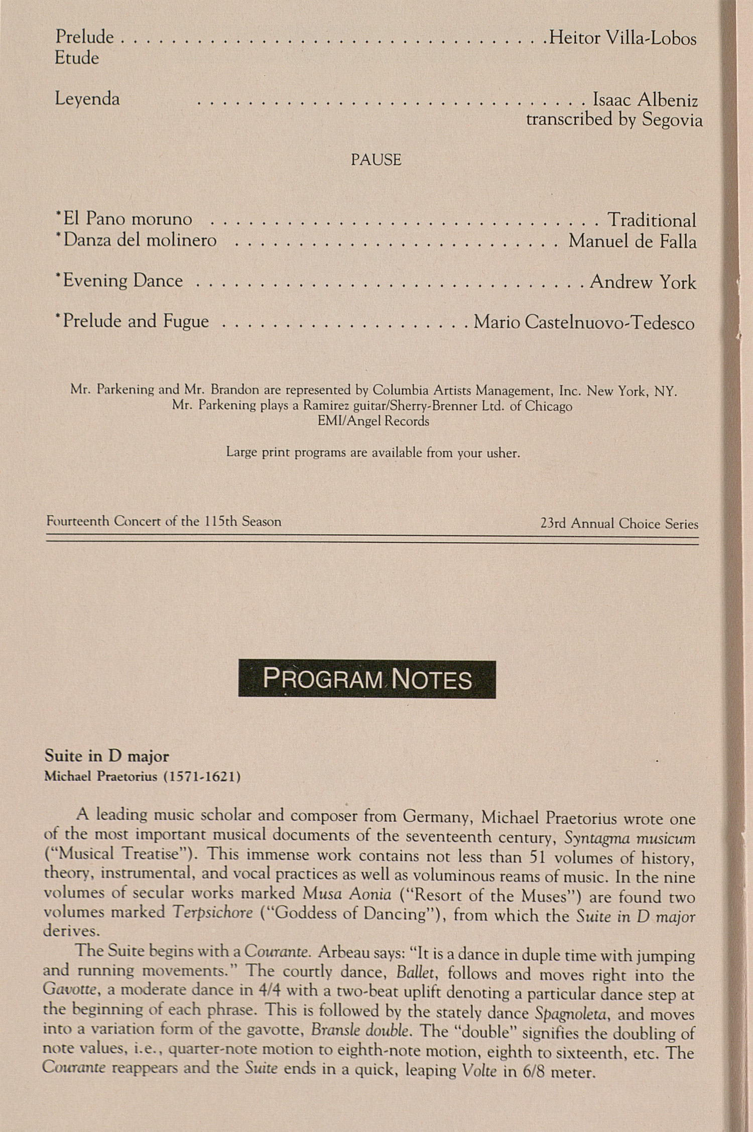 UMS Concert Program, November 3, 1993: University Musical Society --  image