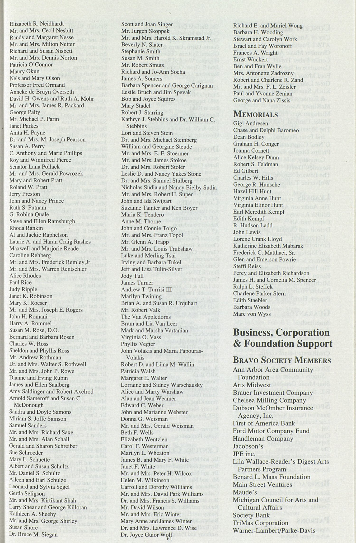 UMS Concert Program, May 12-14, 1994: 101st Ann Arbor May Festival --  image