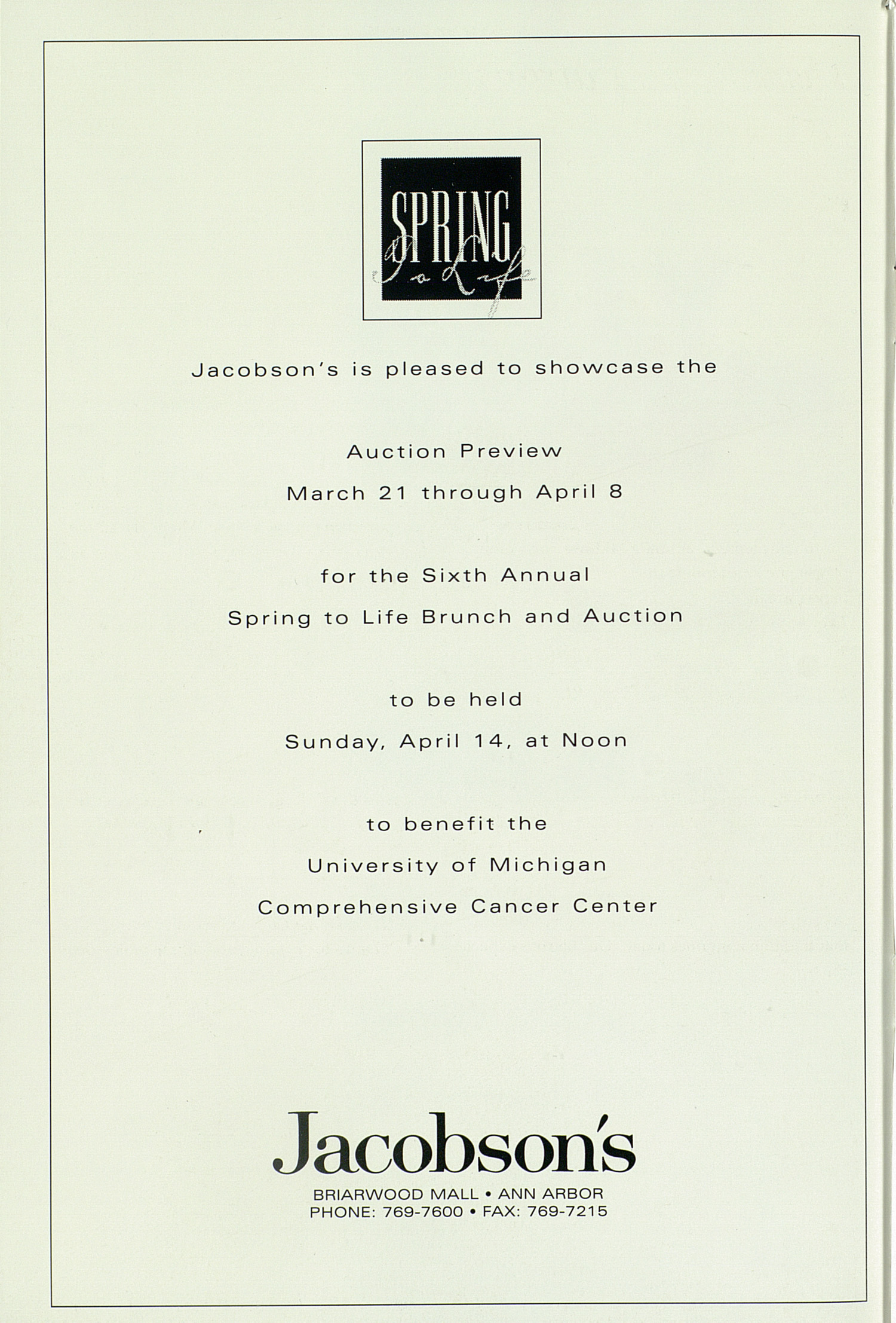 UMS Concert Program, Thursday Apr. 18 To 24: University Musical Society: 1996 Winter - Thursday Apr. 18 To 24 --  image
