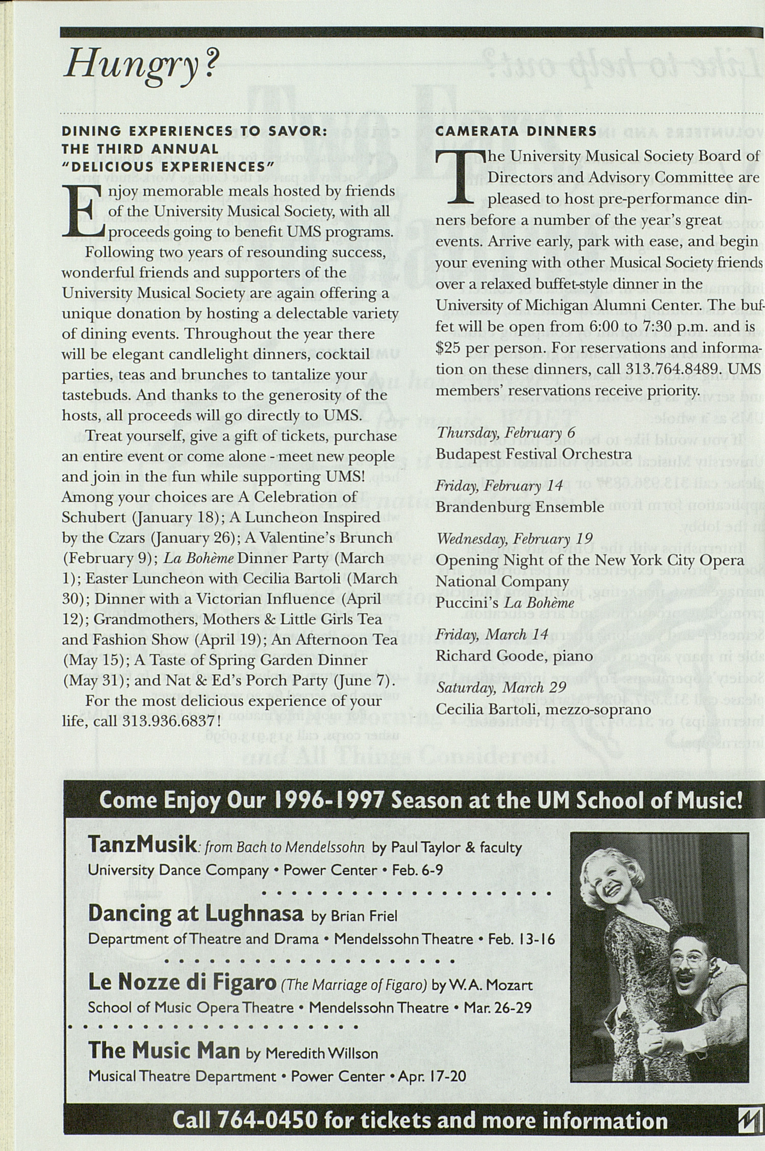 UMS Concert Program, Friday Mar. 14 To 21: University Musical Society: 1996-1997 Winter - Friday Mar. 14 To 21 --  image