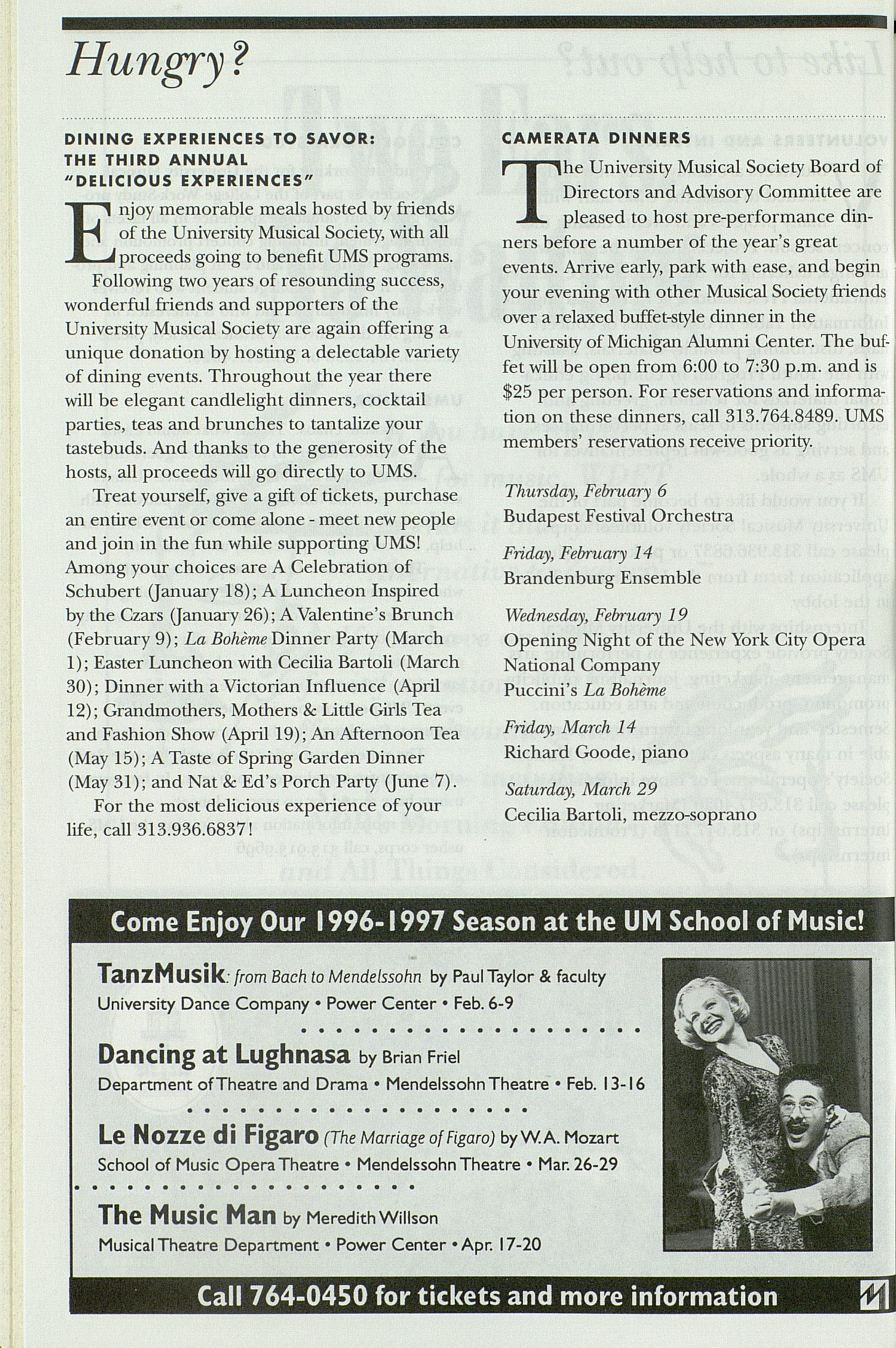 UMS Concert Program, Sunday Mar. 23 To Apr. 05: University Musical Society: 1996-1997 Winter - Sunday Mar. 23 To Apr. 05 --  image
