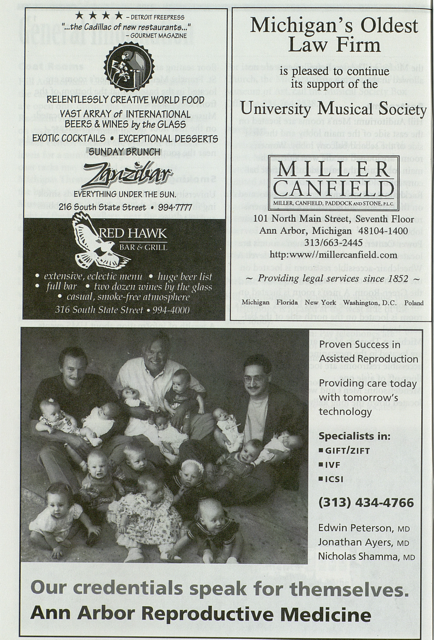 UMS Concert Program, Sunday Feb. 08 To 14: University Musical Society: 1997-1998 Winter - Sunday Feb. 08 To 14 --  image