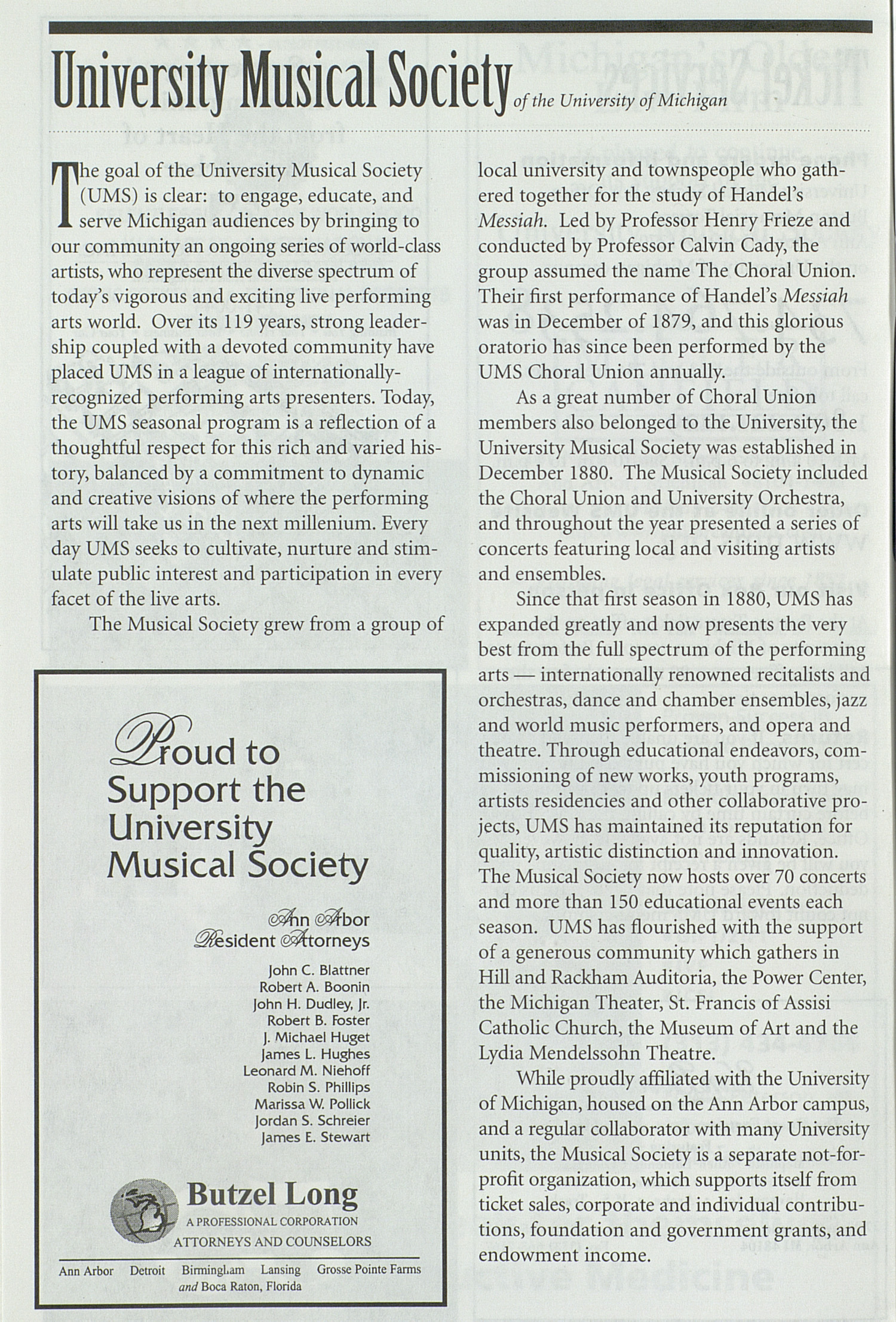 UMS Concert Program, Tuesday Mar. 24 To 29: University Musical Society: 1997-1998 Winter - Tuesday Mar. 24 To 29 --  image