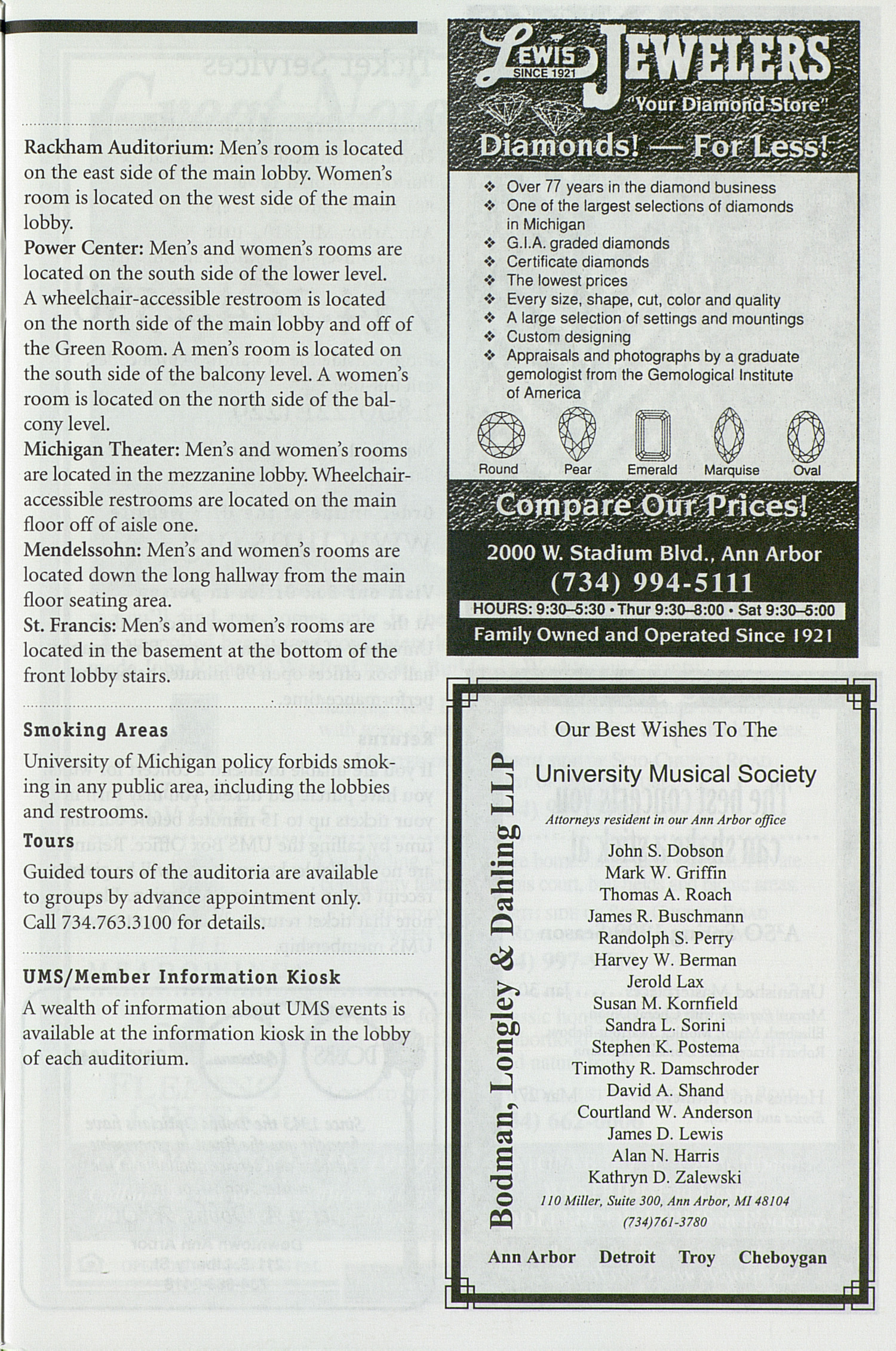 UMS Concert Program, Wednesday Mar. 24 To 30: University Musical Society: 1998-1999 Winter - Wednesday Mar. 24 To 30 --  image