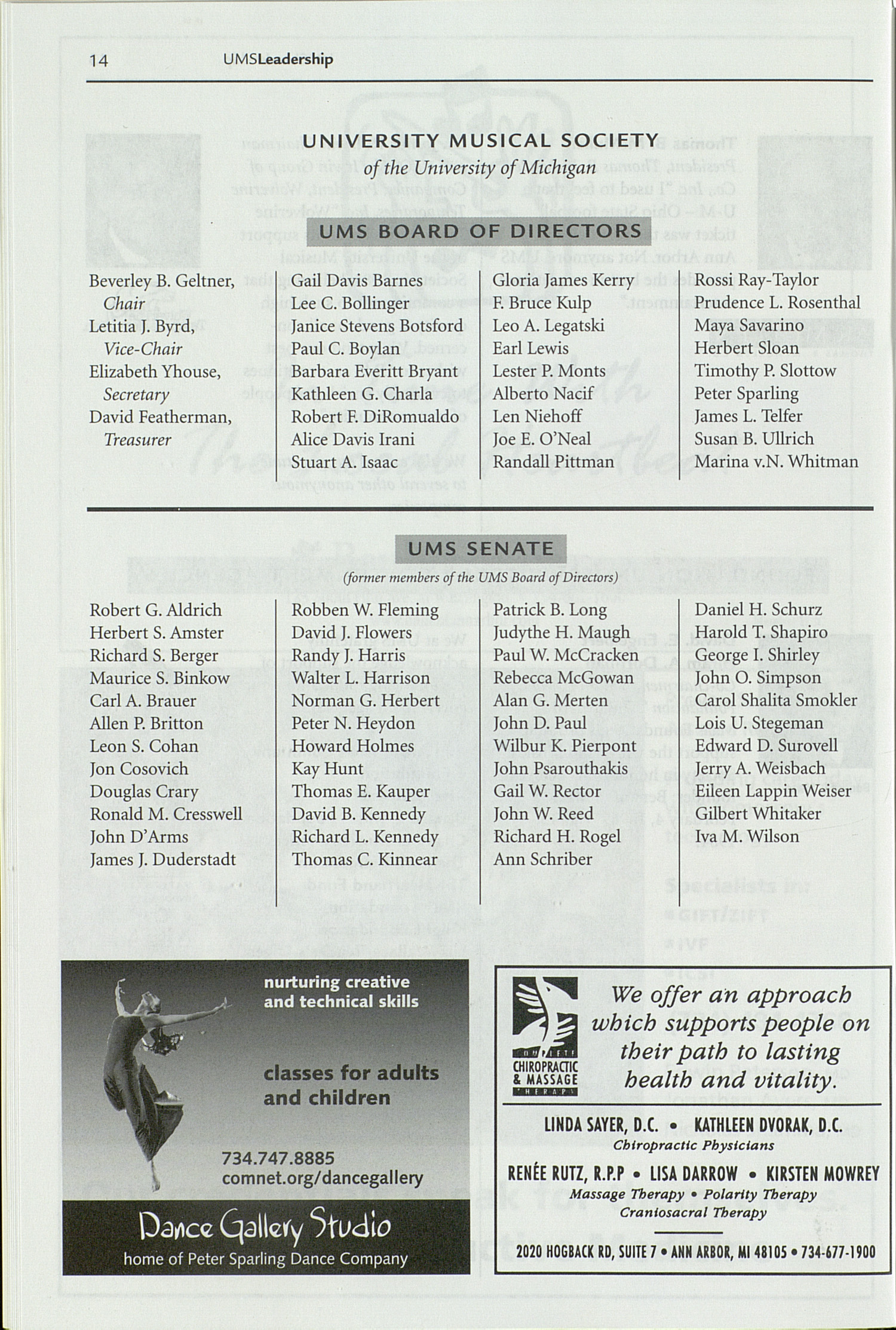 UMS Concert Program, Thursday Sep. 30 To Oct. 08: University Musical Society: 1999-2000 Fall - Thursday Sep. 30 To Oct. 08 --  image